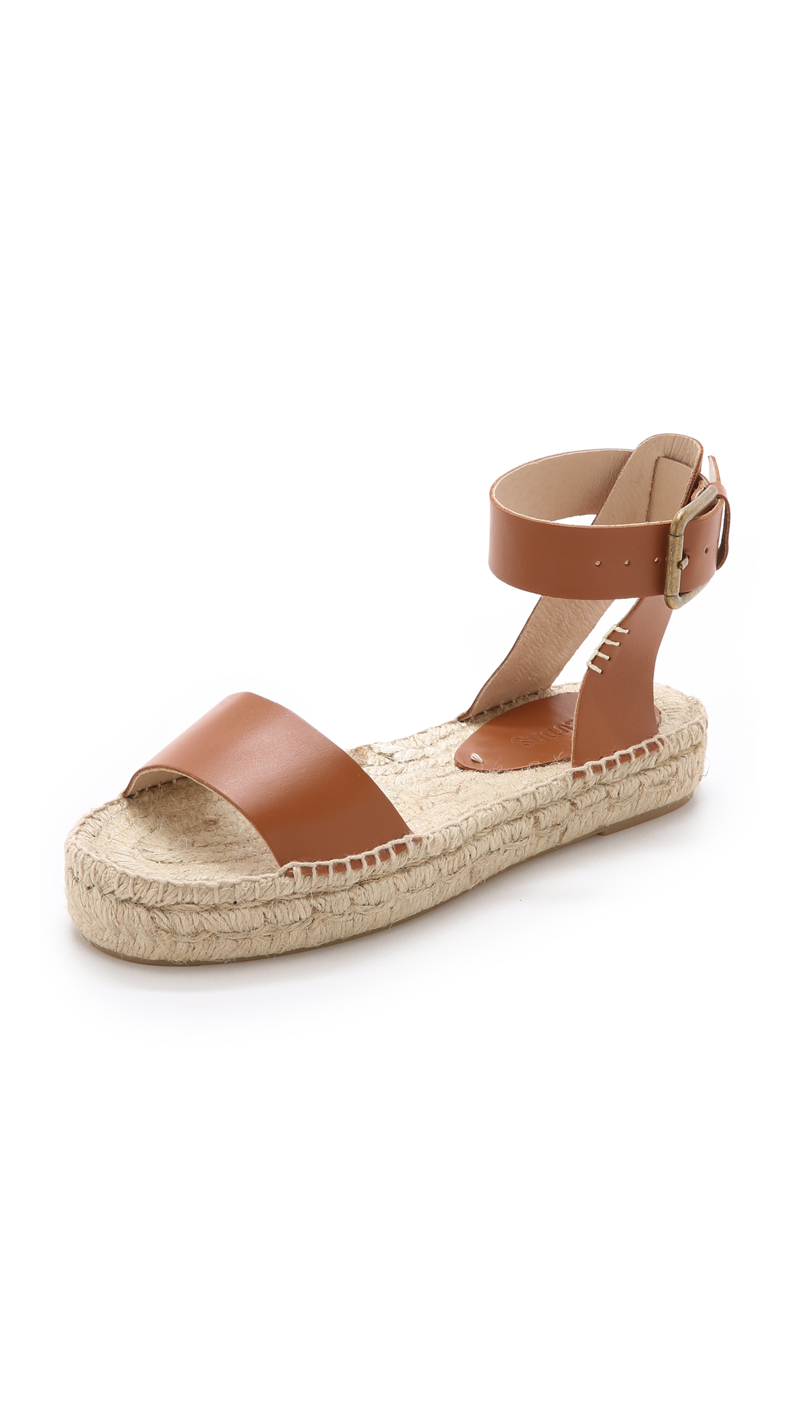 15f55151dc5 Lyst - Soludos Platform Open Toe Sandals in Brown