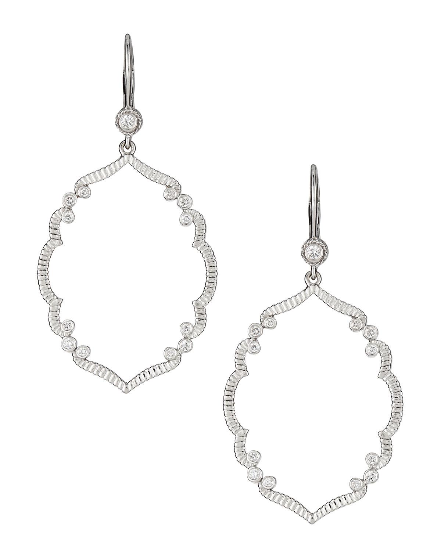 Penny Preville 18k Diamond Feather Drop Earrings Q1E8af