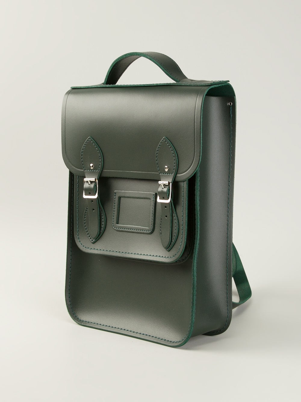 Cambridge satchel company Raw Cut Leather Backpack in Green | Lyst