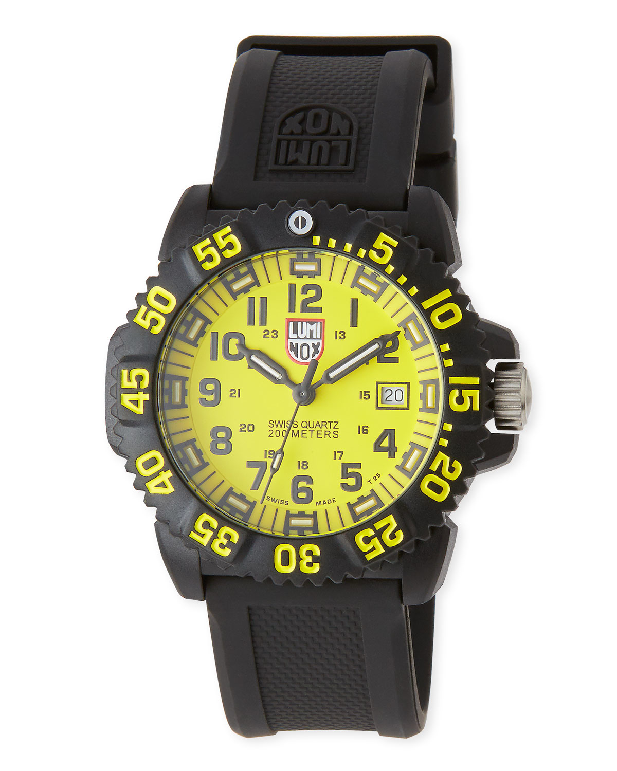 Lyst luminox navy seal colormark 3050 series watch in yellow for Luminox watches