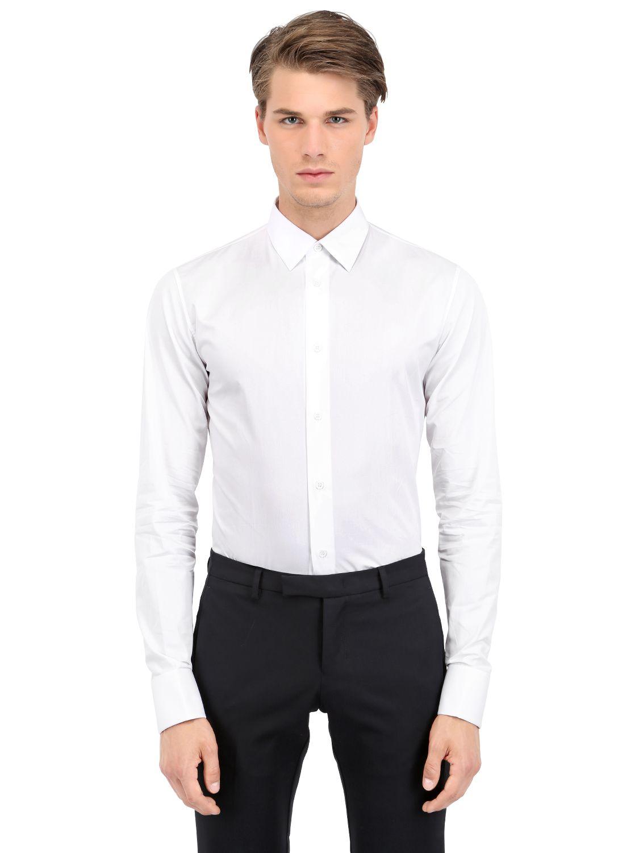 Lyst Dior Homme Cotton Poplin Shirt With Cufflinks In