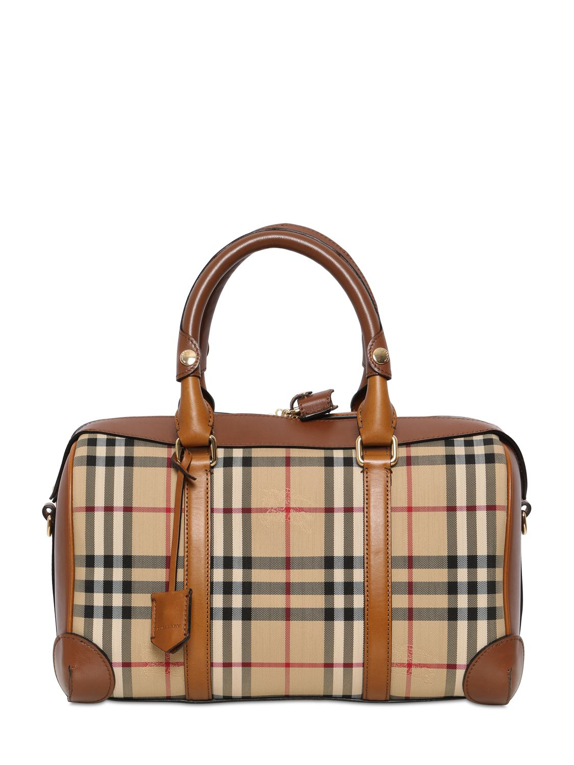 Burberry Medium Alchester Bridle House Check Bag in Brown - Lyst 4df8a89d91b22