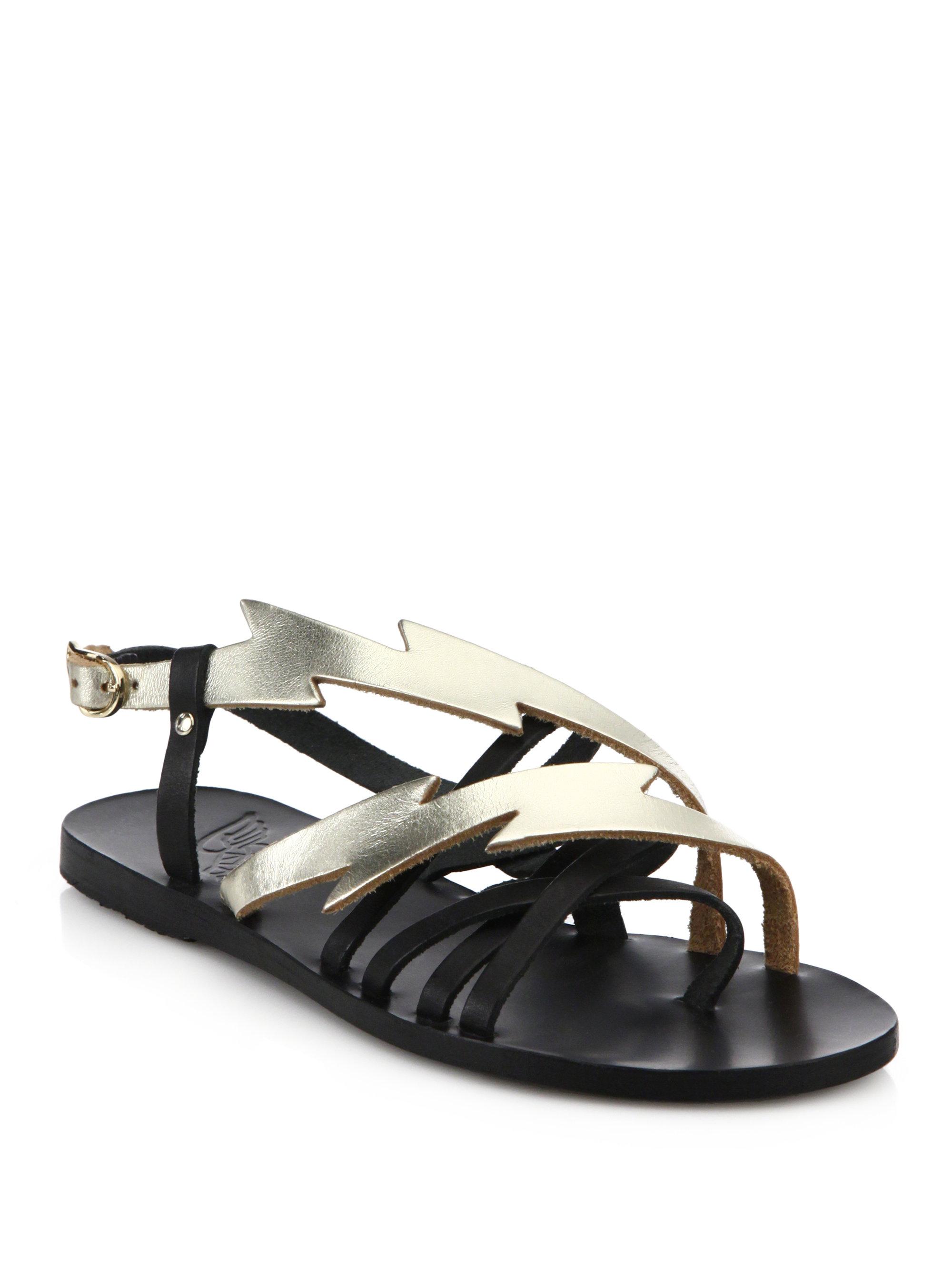 Lyst Ancient Greek Sandals Kategida Metallic Leather