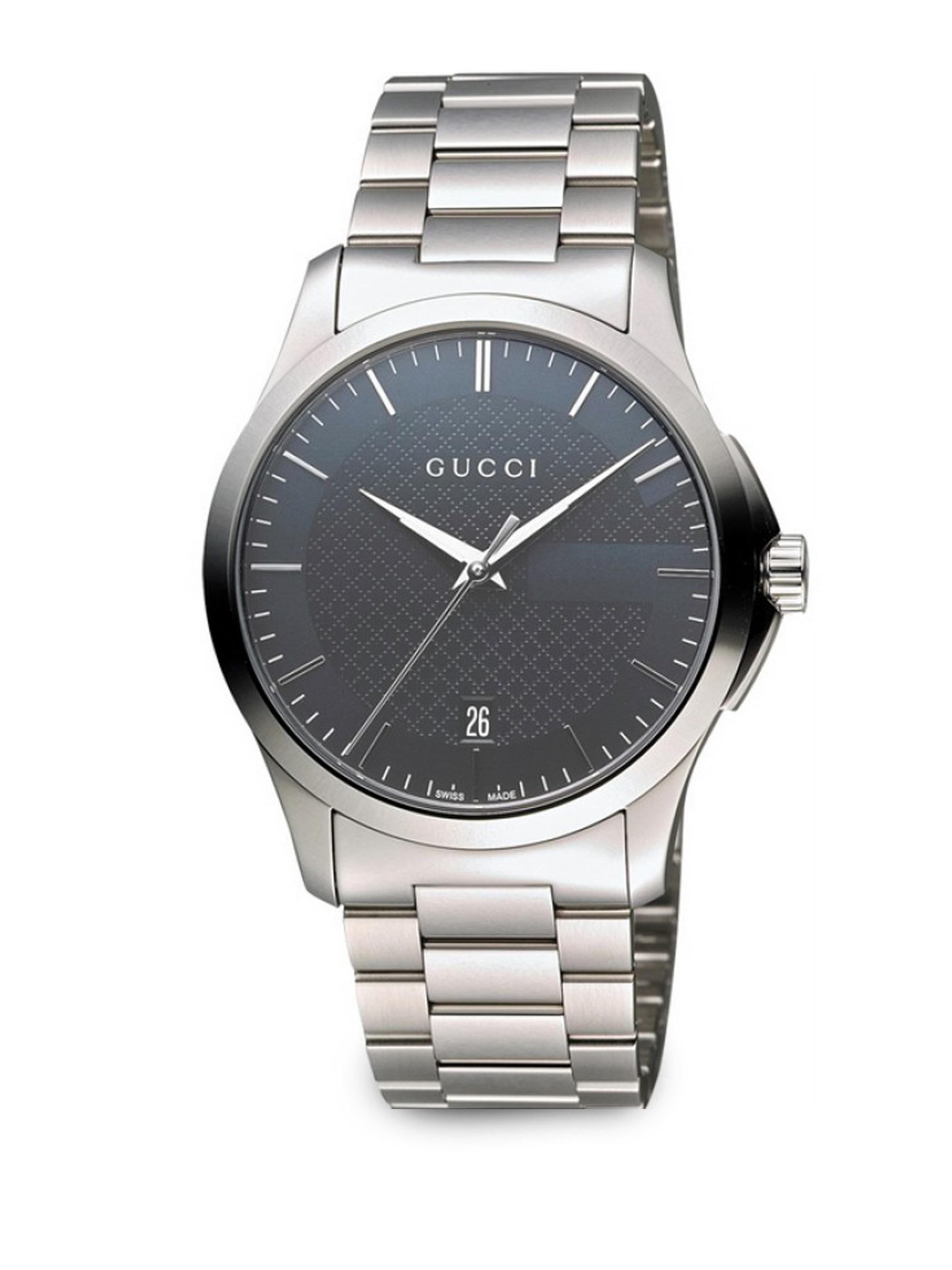 61c888f455b Lyst - Gucci Unisex Swiss G-timeless Stainless Steel Bracelet Watch ...