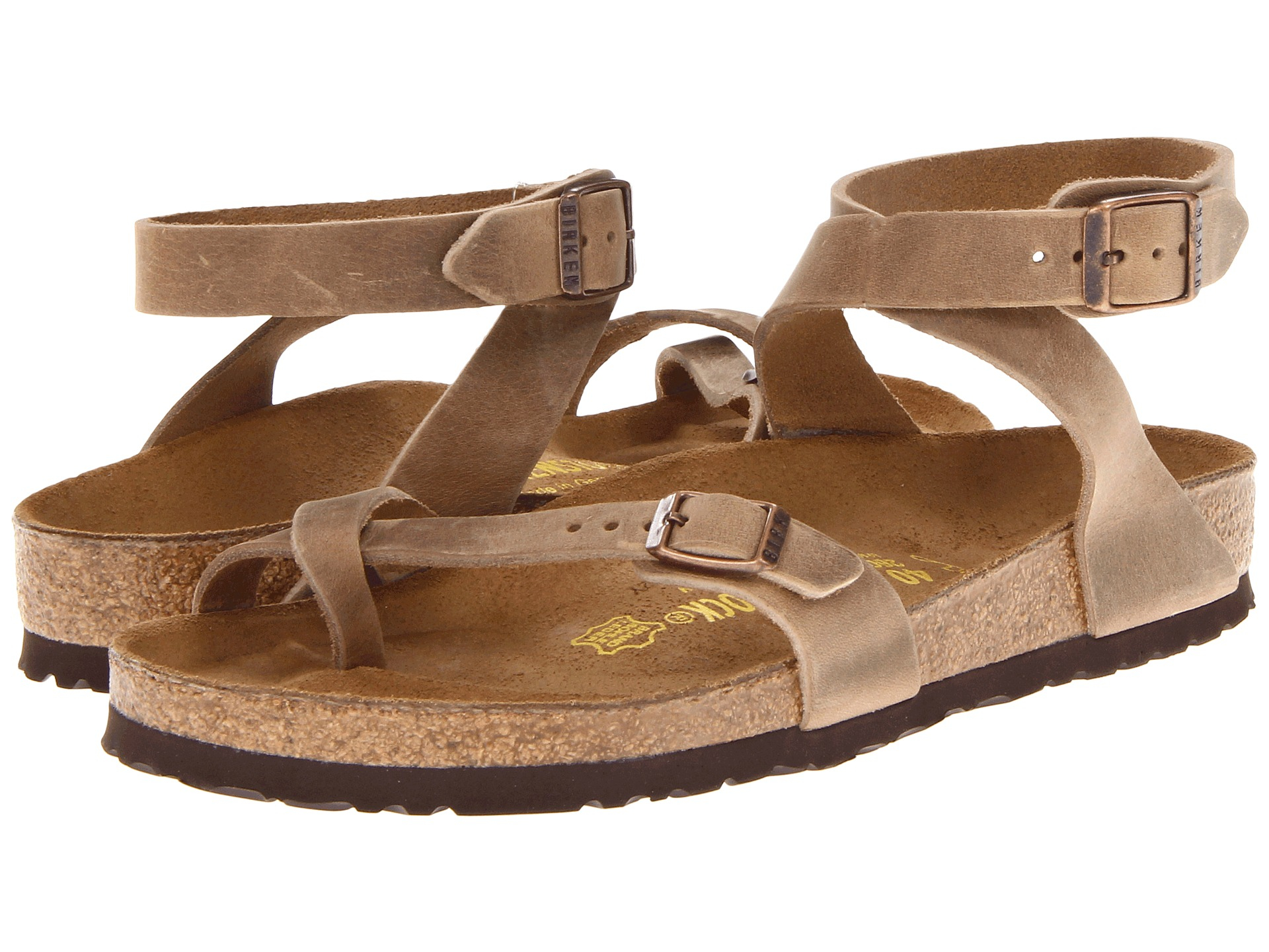 a3254c88ff21e3 Lyst - Birkenstock Yara Oiled Leather in Brown