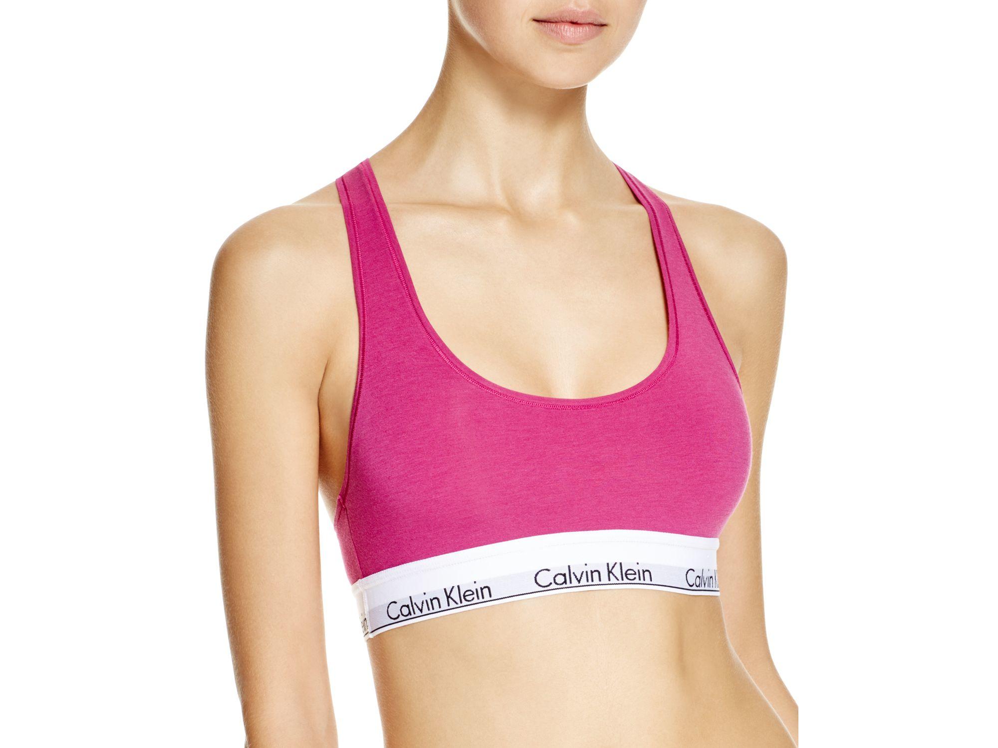a8afedad90 Calvin Klein Bralette - Modern Cotton  f3785 in Pink - Lyst