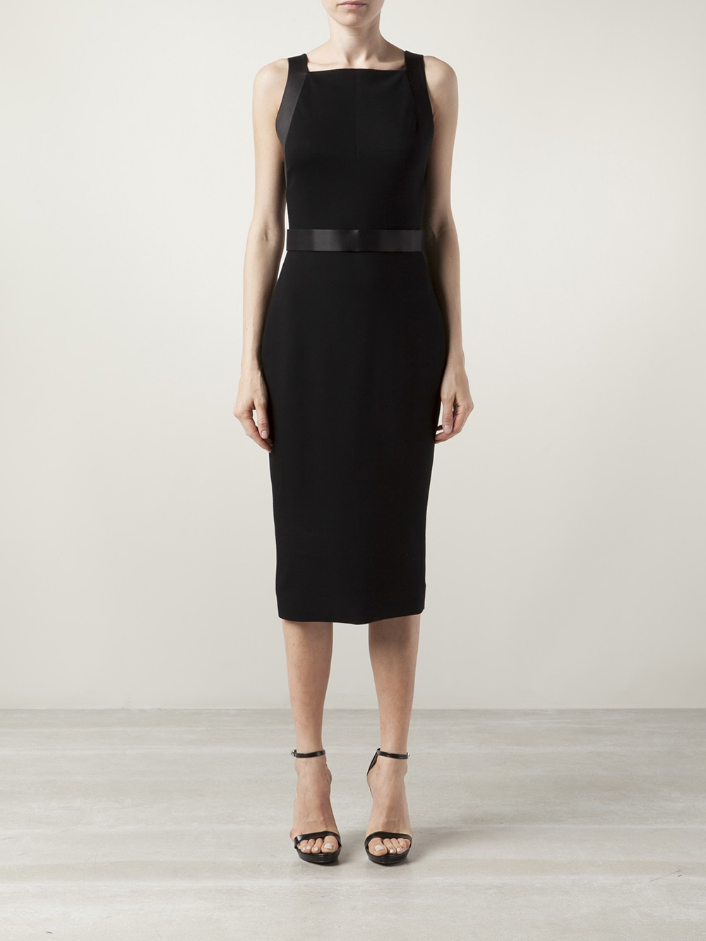 Jason wu Fitted Sheath Dress in Black | Lyst