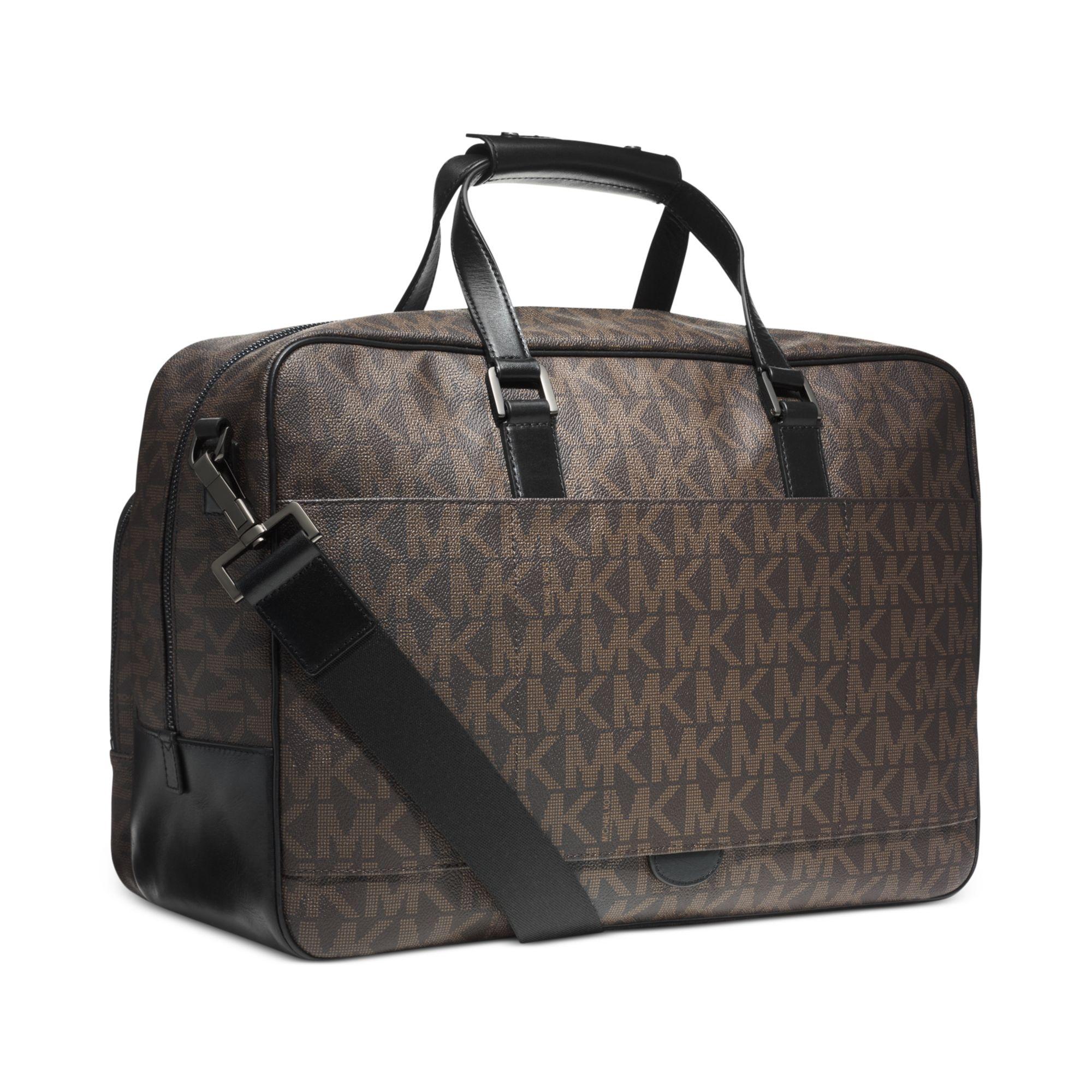 michael kors jet set travel carryon bag in brown for