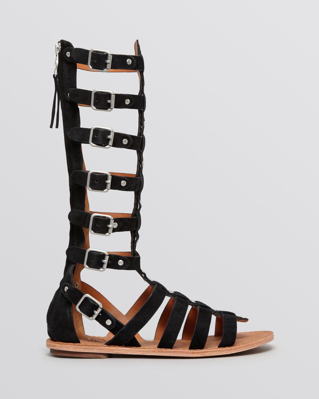 e8b07b11705 Lyst - Ash Tall Gladiator Sandals - Nymphea Tall in Black
