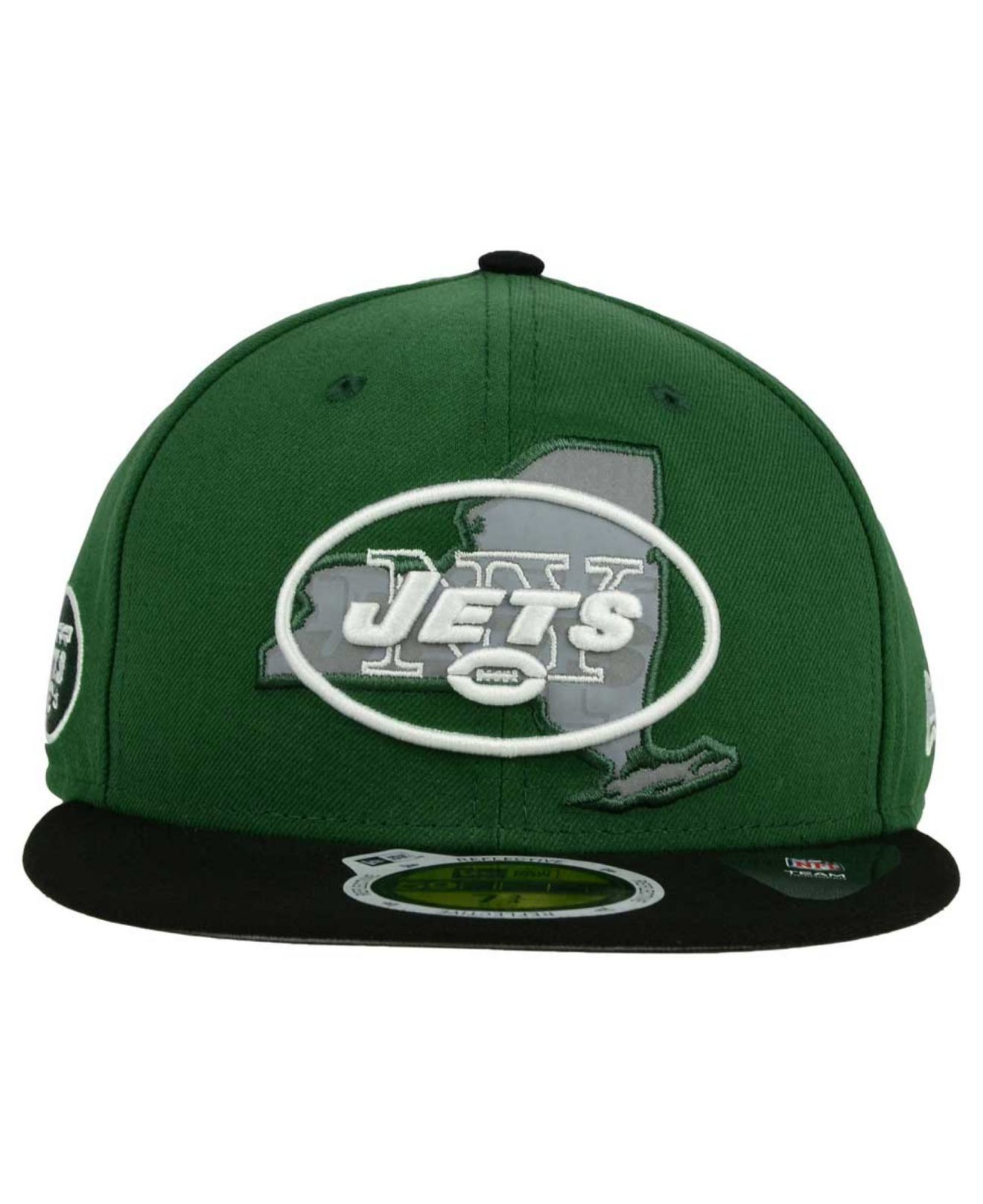111cef87051 ... field color rush 39thirty cap 42878 07894  where to buy lyst ktz new  york jets state flective redux 59fifty cap in green c01dc