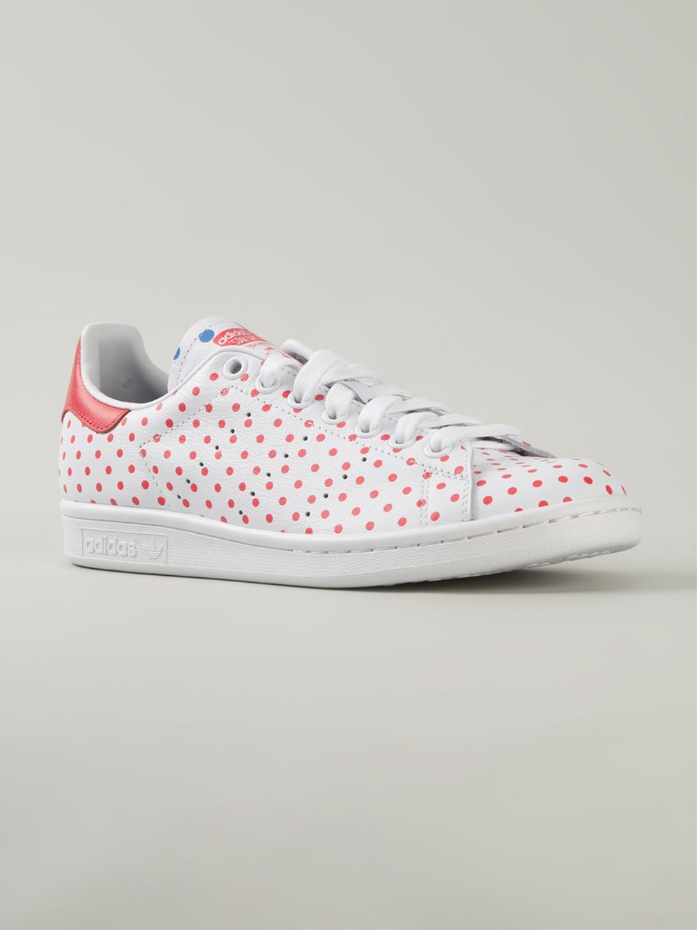 Adidas Stan Smith Polka Dot Sneakers in Red