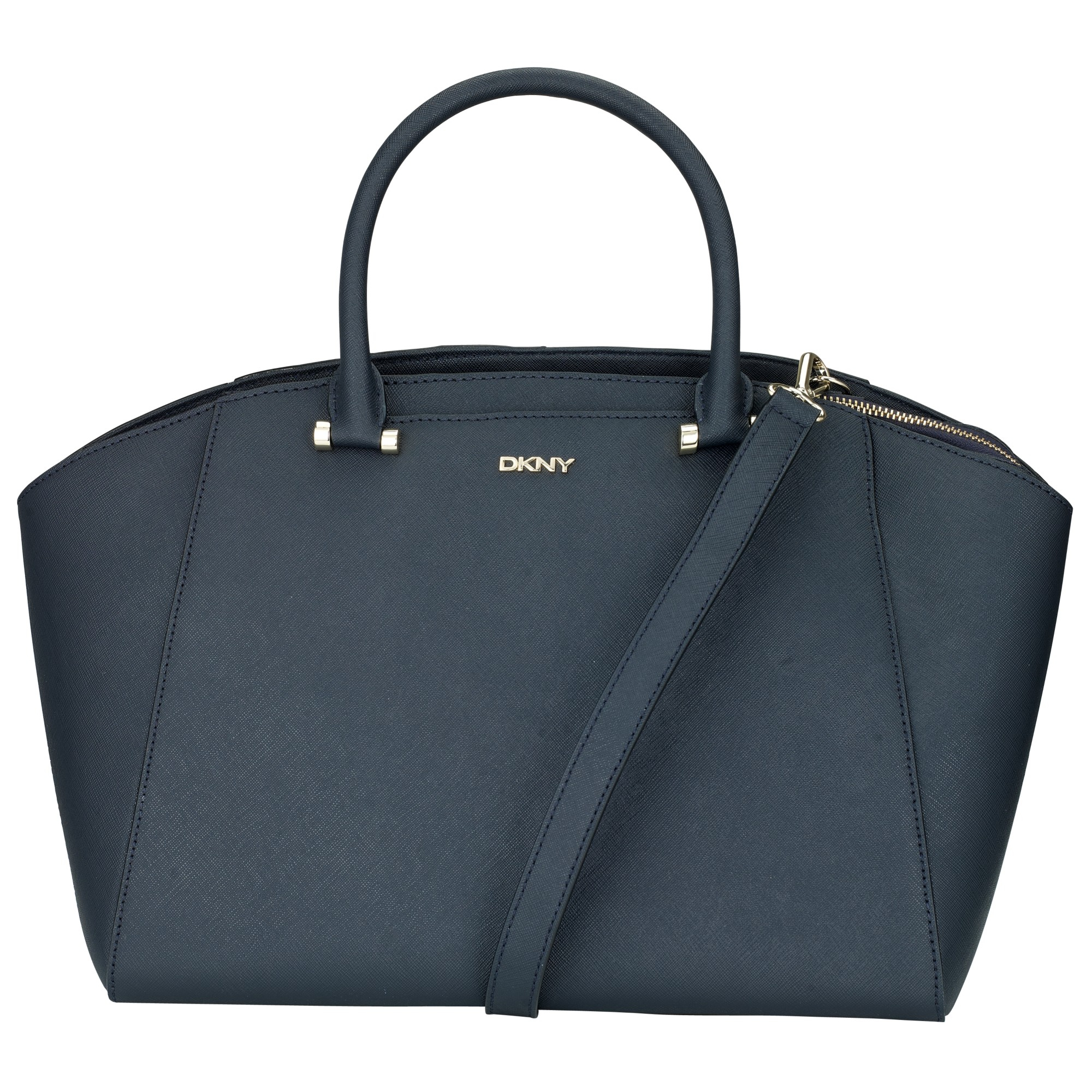 Dkny Bryant Large Leather Satchel Bag in Blue (navy)