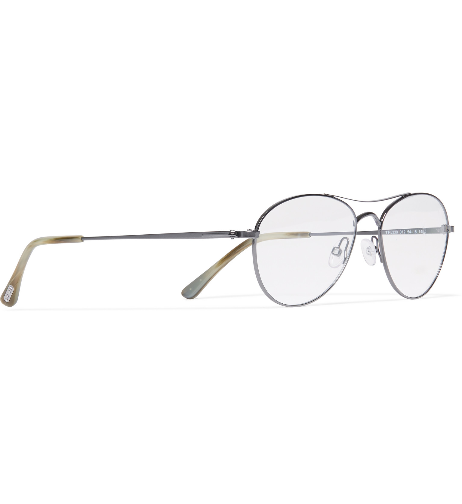 83bab4afea4 Tom Ford Aviator-style Metal Optical Glasses in Metallic for Men - Lyst