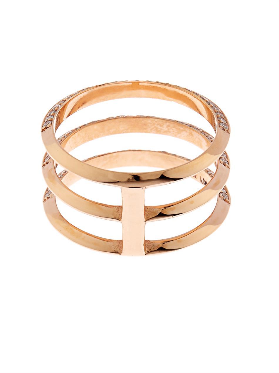 Diamond & pink-gold ring Ileana Makri xeUTnQlt