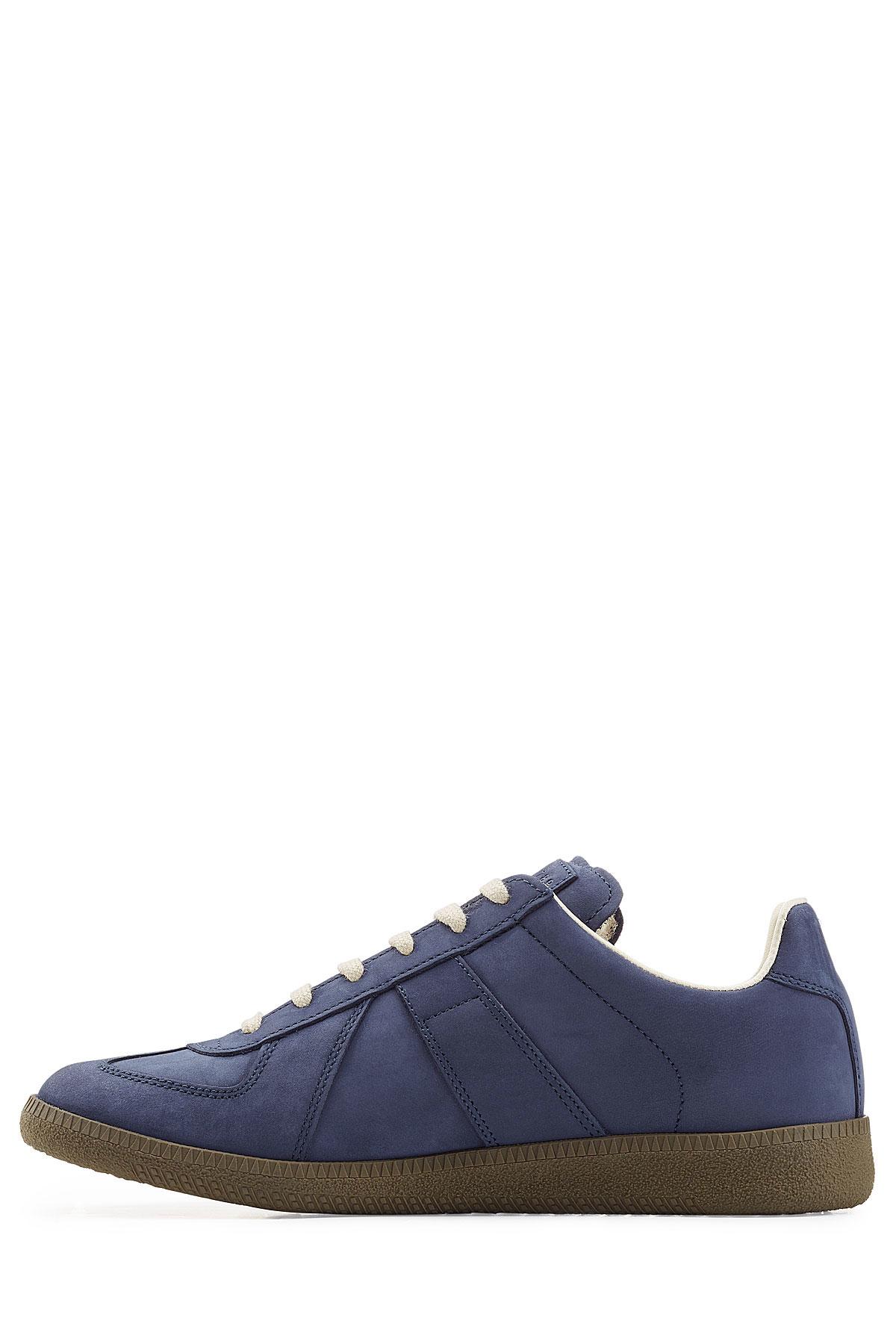 maison margiela suede sneakers blue in blue for men save 40 lyst. Black Bedroom Furniture Sets. Home Design Ideas