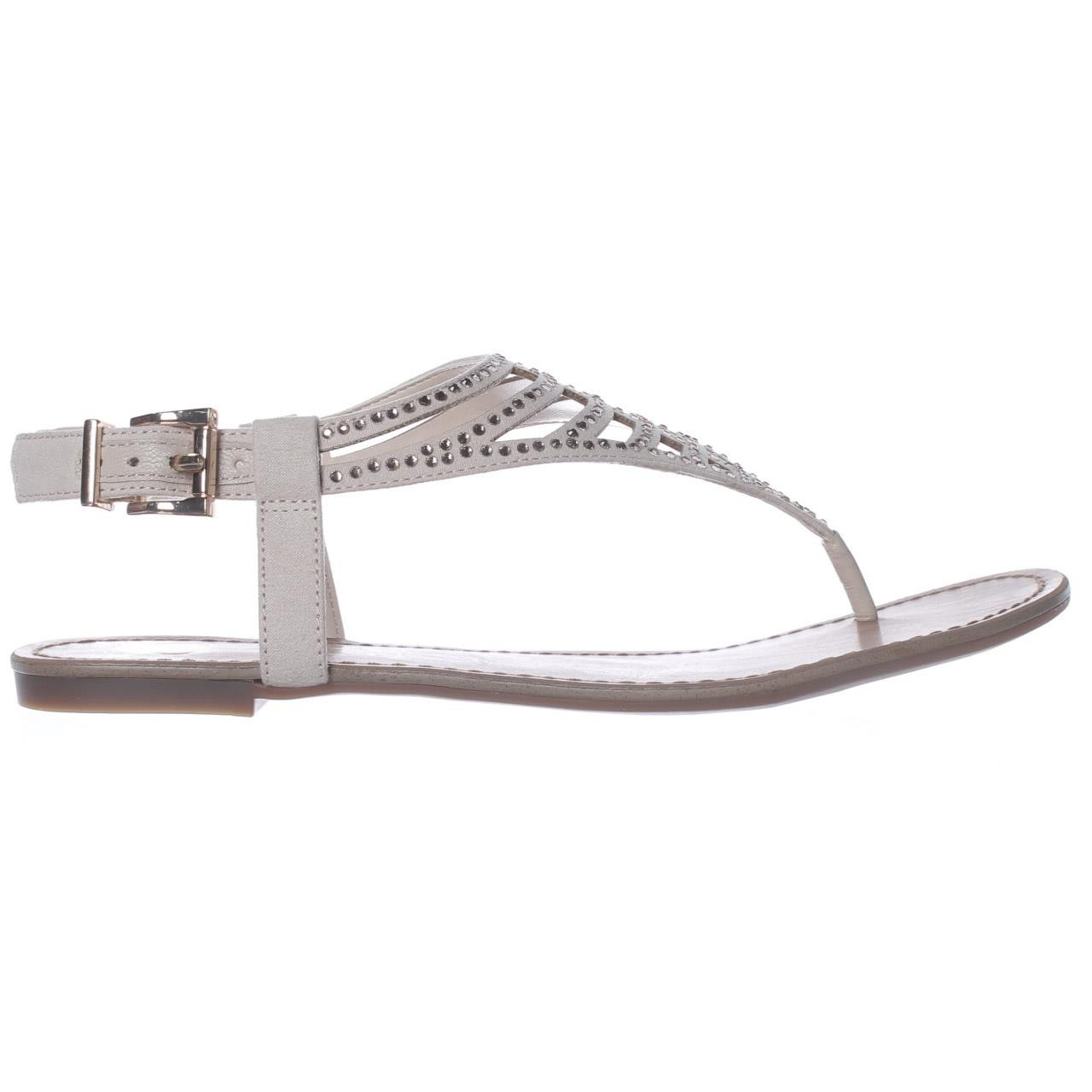 Lyst Jessica Simpson Garvey Flat Ankle Strap Sandals In