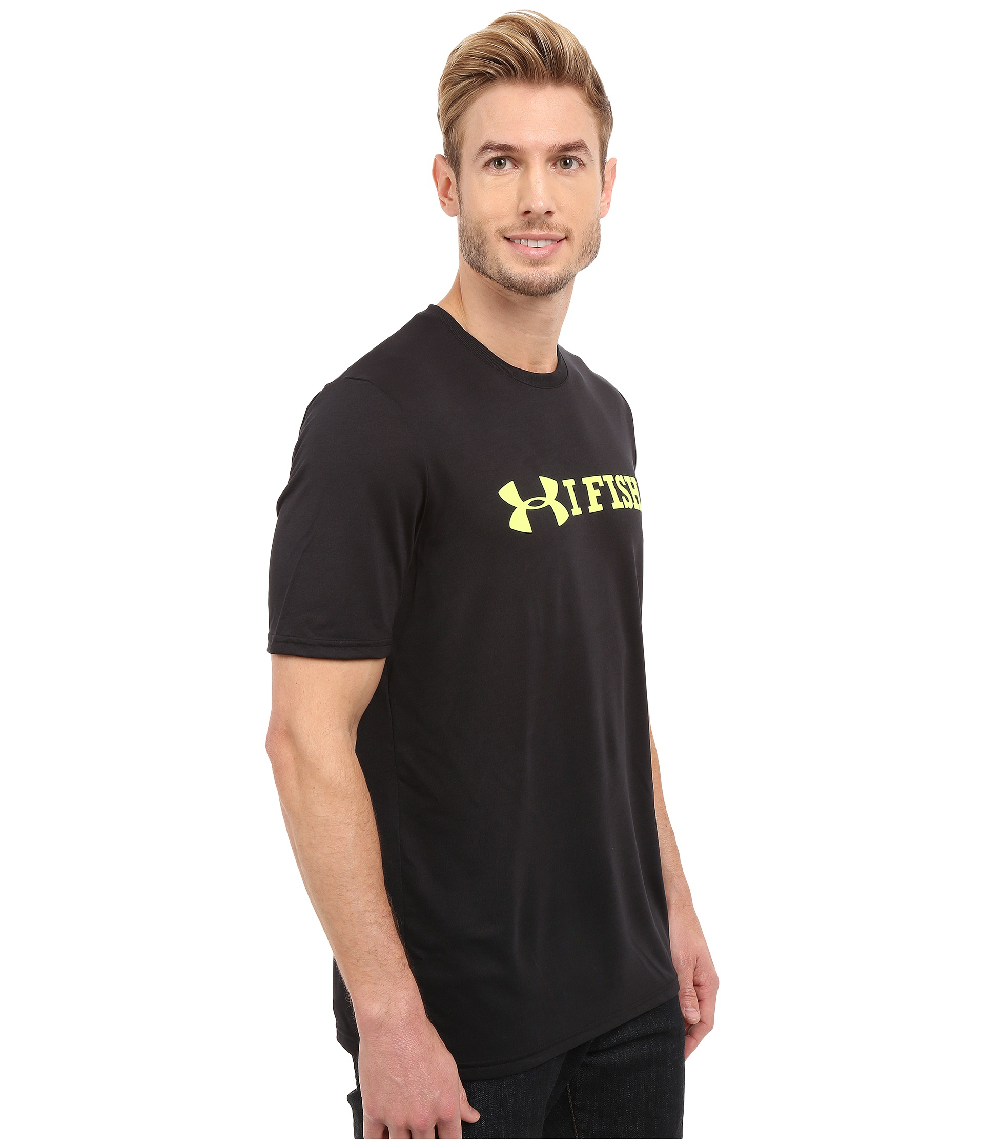 Under Armour Ua I Fish Tech Short Sleeve In Black For Men