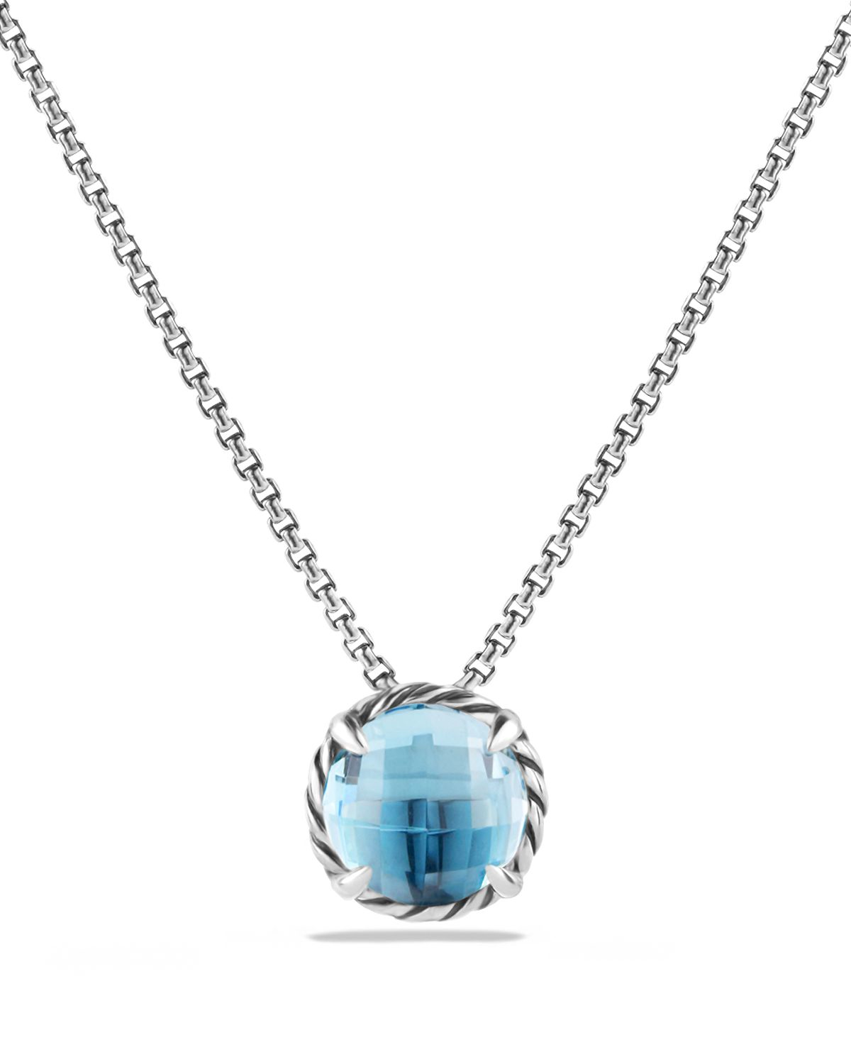 lyst david yurman chatelaine pendant necklace with blue