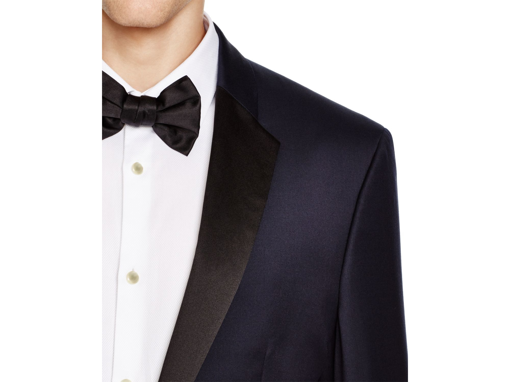 lyst boss hugo slim fit tuxedo in blue for men. Black Bedroom Furniture Sets. Home Design Ideas