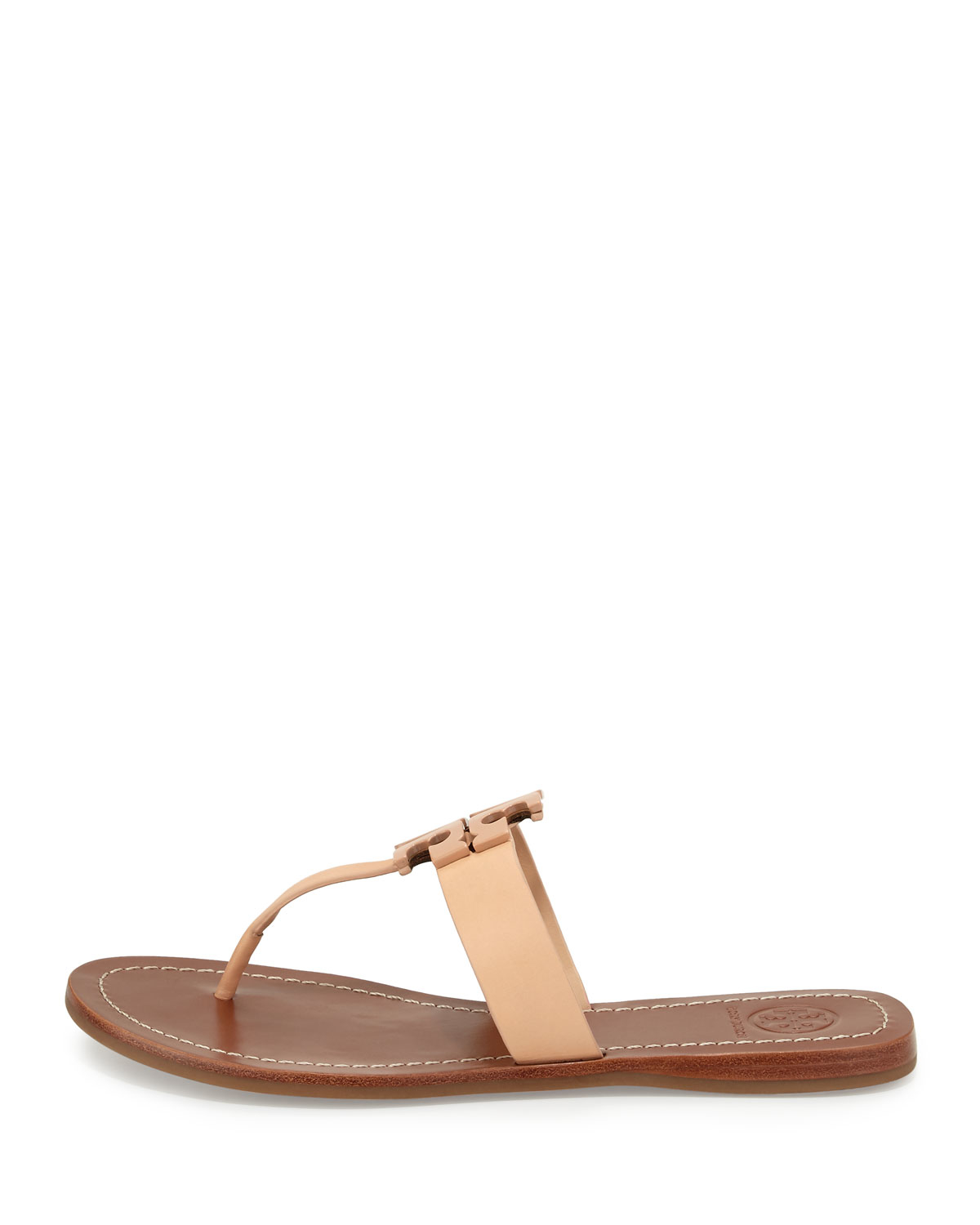 8c694b2bdf33 Lyst - Tory Burch Moore 2 Leather Thong Sandals in Natural