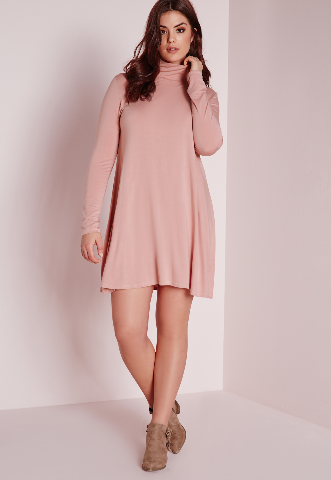 75cf4d1eefb15 Missguided Plus Size Swing Dress Pink in Pink - Lyst