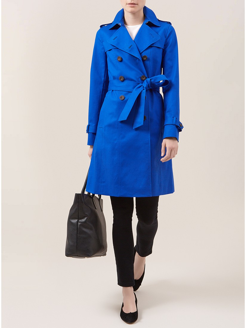 fashionable patterns purchase newest clear and distinctive Hobbs London Saskia Trench Coat in Bright Cobalt (Blue) - Lyst