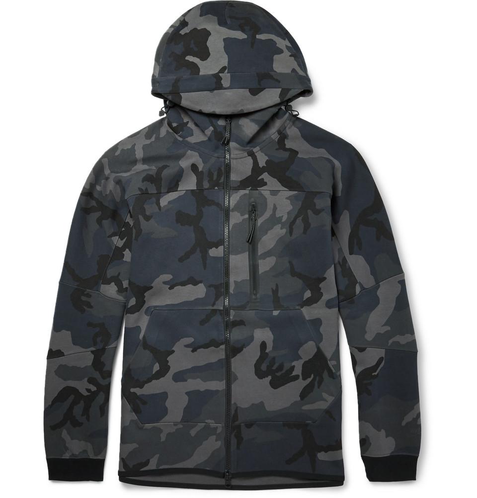 nike tz camouflage print cotton blend windbreaker jacket. Black Bedroom Furniture Sets. Home Design Ideas