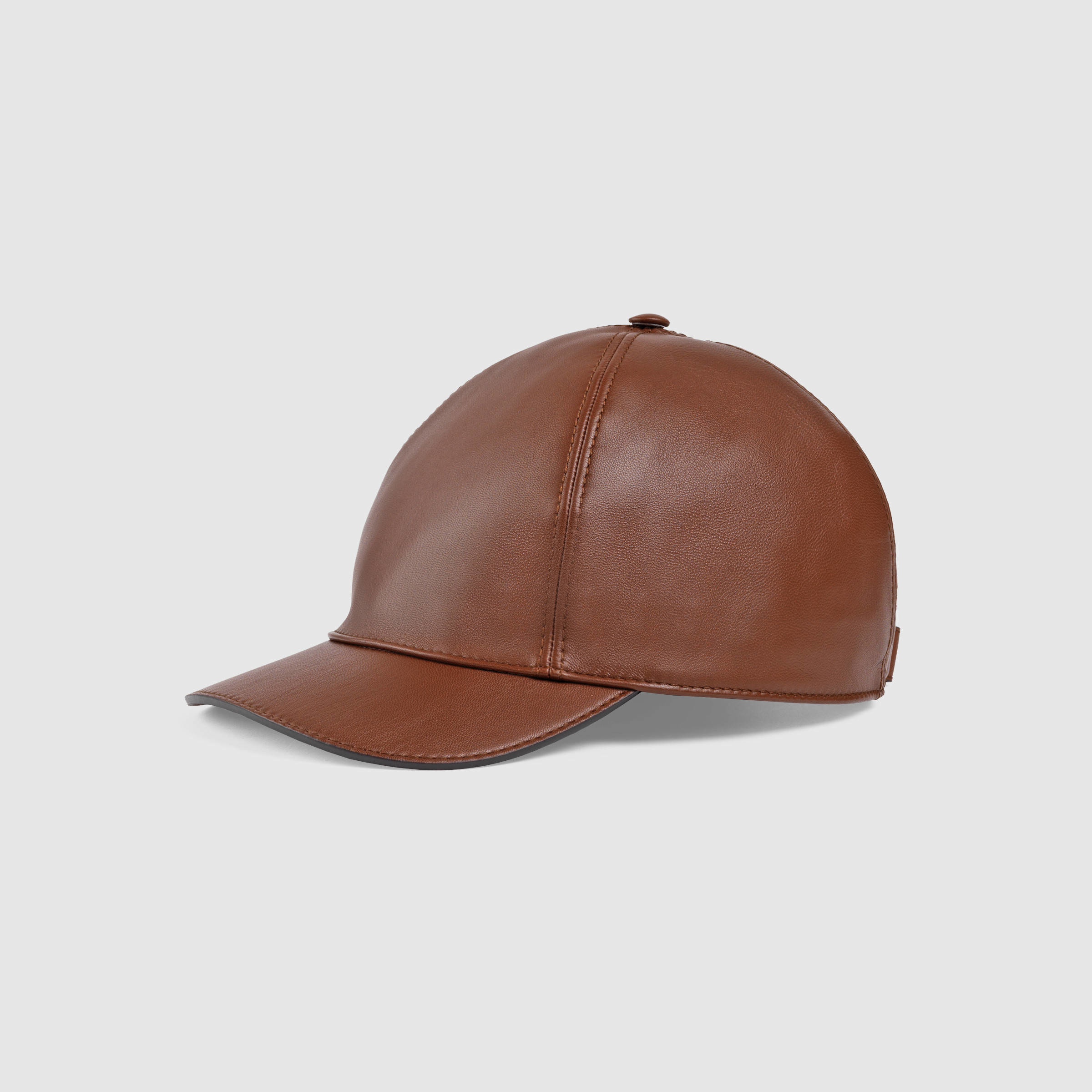 Lyst - Gucci Leather Baseball Hat in Brown for Men e291d5e7d39