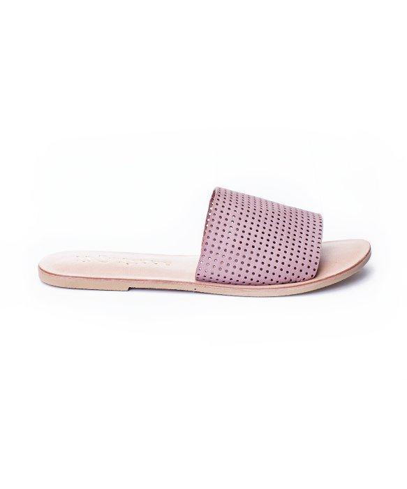 Matisse Perforated Playa Flat Sandals In Purple Lyst