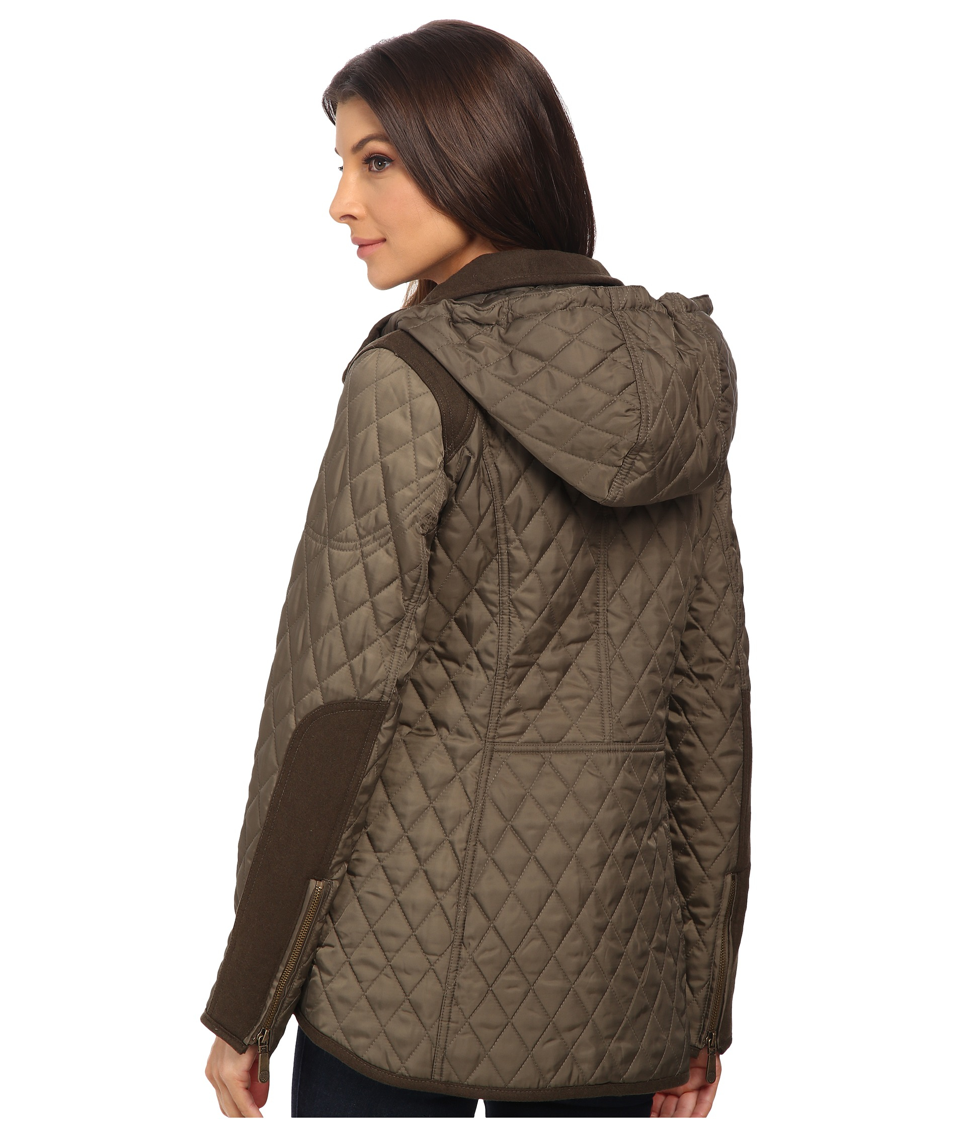 Lyst Vince Camuto Quilted Jacket With Wool Trim J1501 In