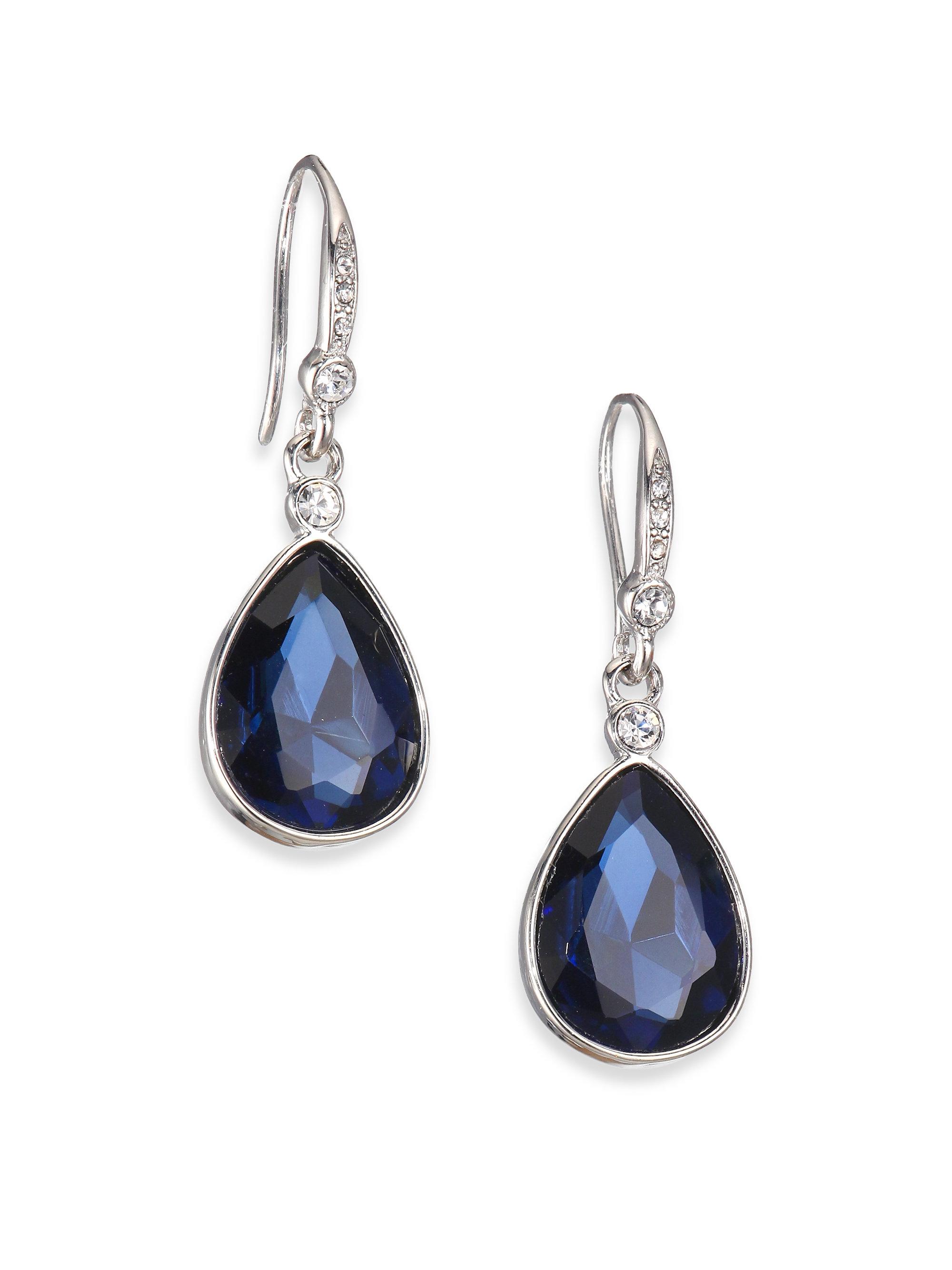 abs by allen schwartz faceted drop earrings