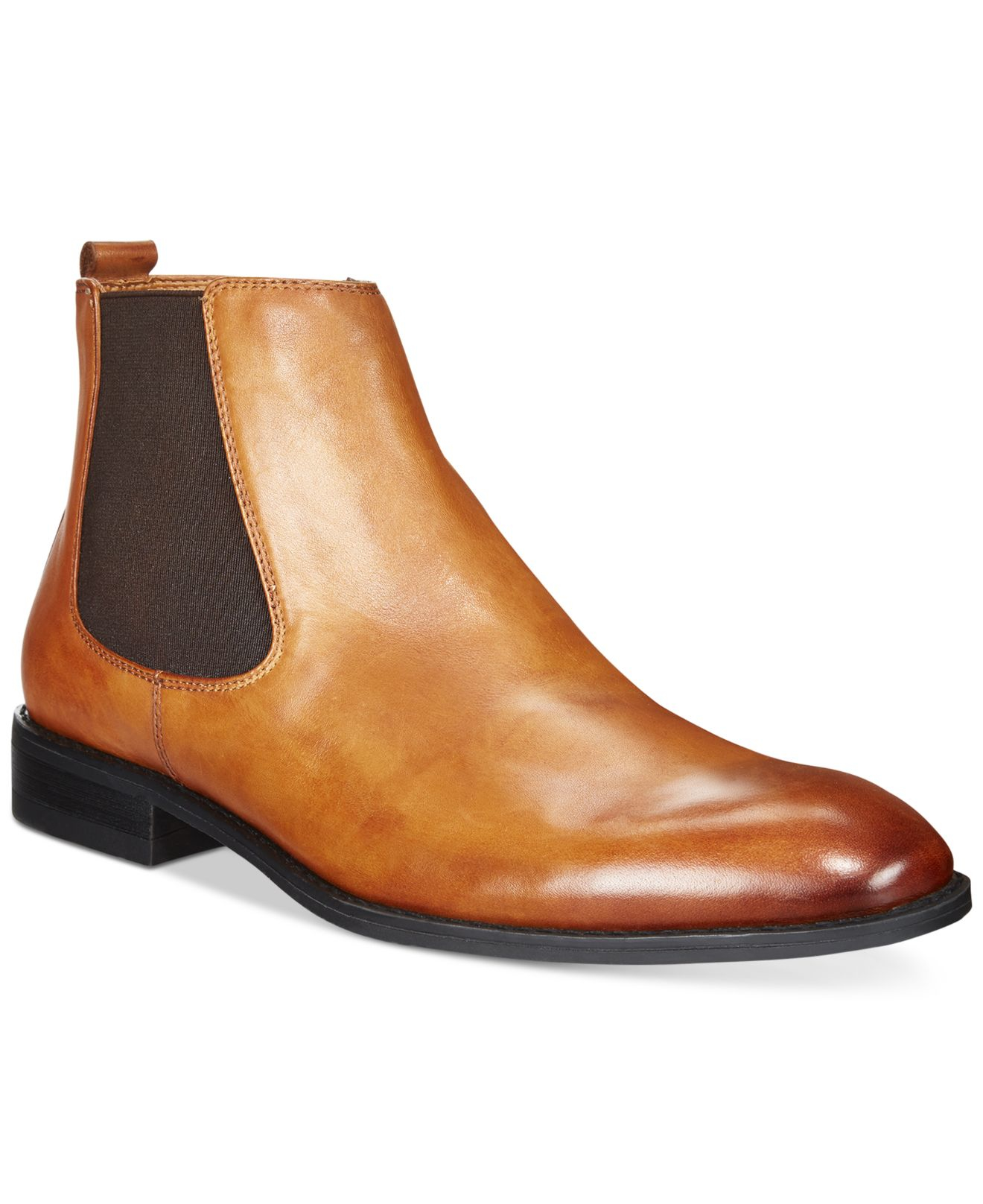alfani s caleb chelsea boots in brown for