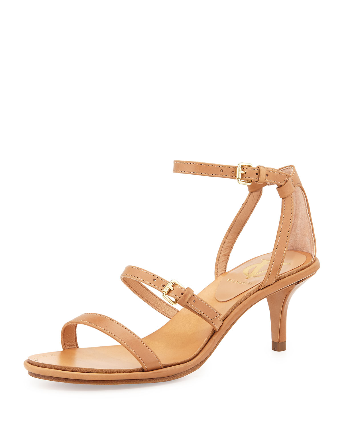 Vince camuto signature Hilarie Kitten-Heel Sandal Pump in Natural ...