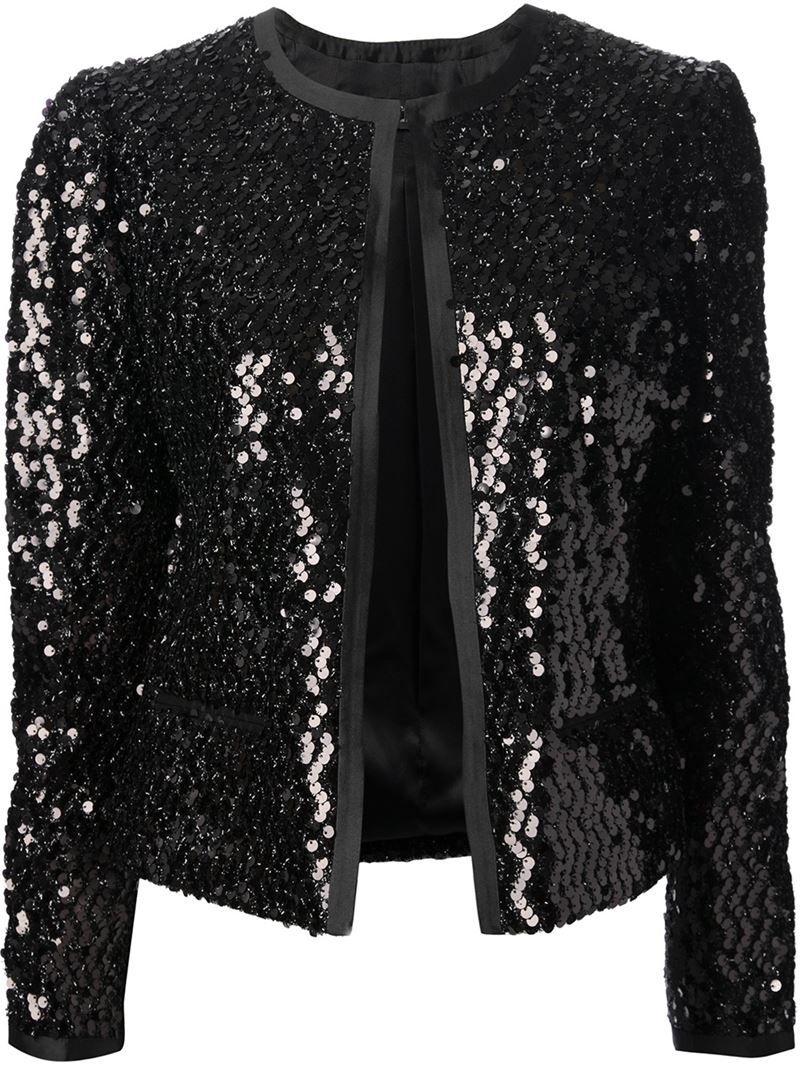 525557c5 Dolce & Gabbana Sequin Jacket in Black - Lyst
