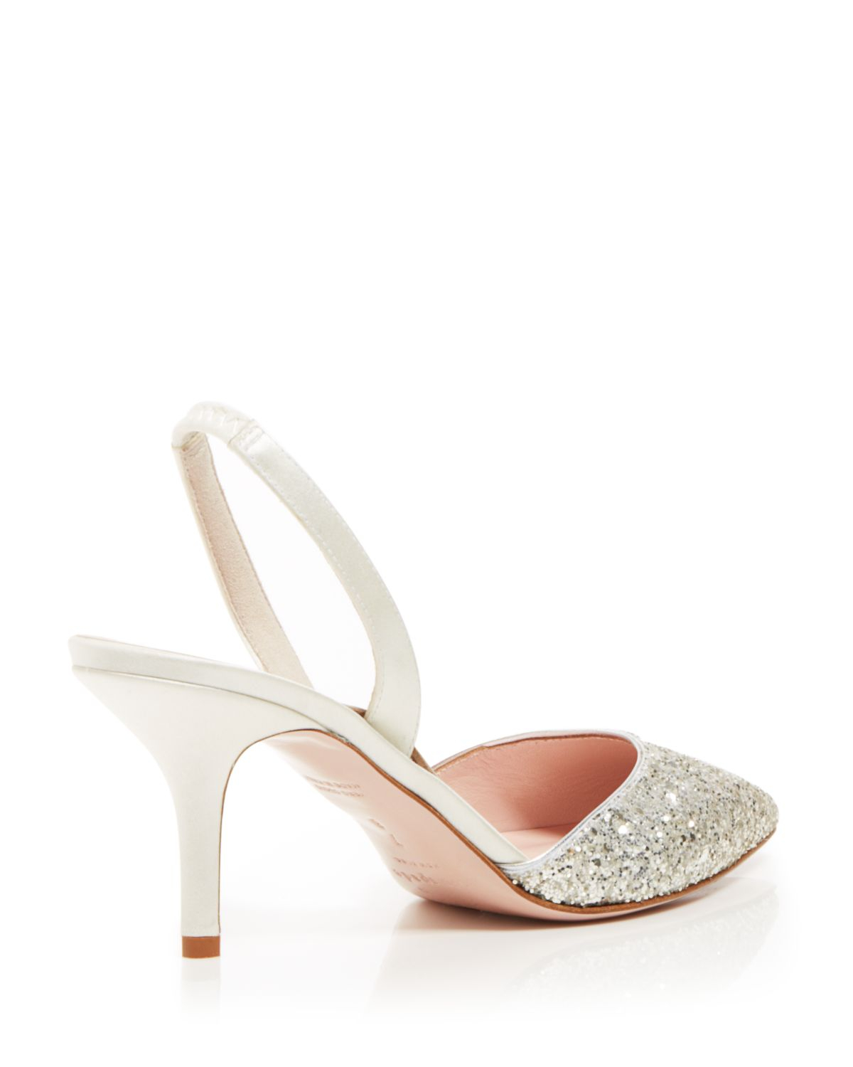221b2d9cf420 Lyst - Kate Spade Pointed Toe Slingback Evening Pumps - Jeanette Mid ...