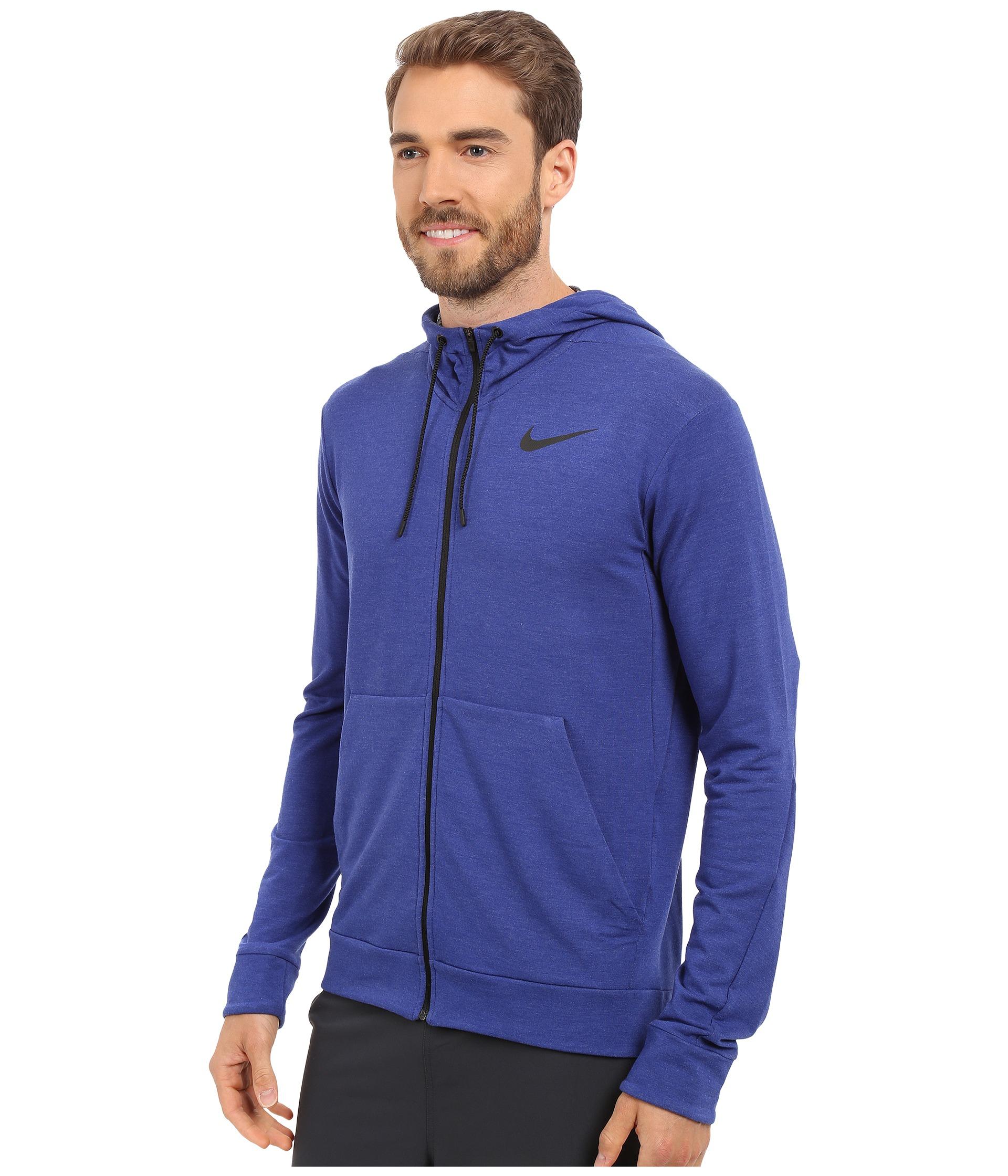 08af6636faf3 Lyst - Nike Dri-fit™ Fleece Full-zip Training Hoodie in Blue for Men