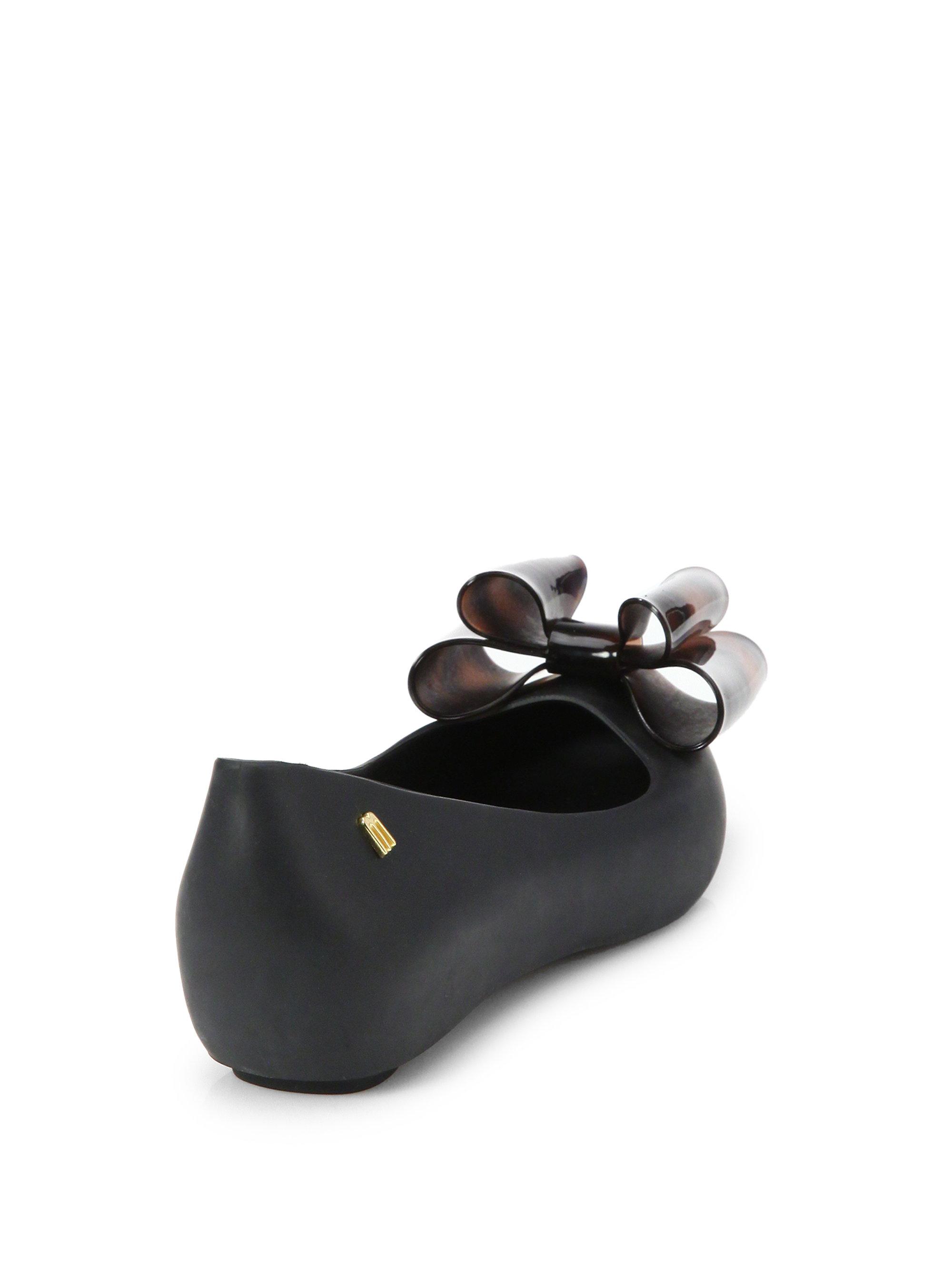 Melissa ULTRAGIRL SWEET BOW - Wedges - black glitter 7ViGzi7s