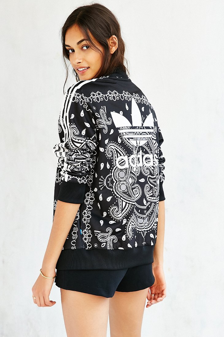 Adidas Originals Paisley Track Jacket In Black Lyst