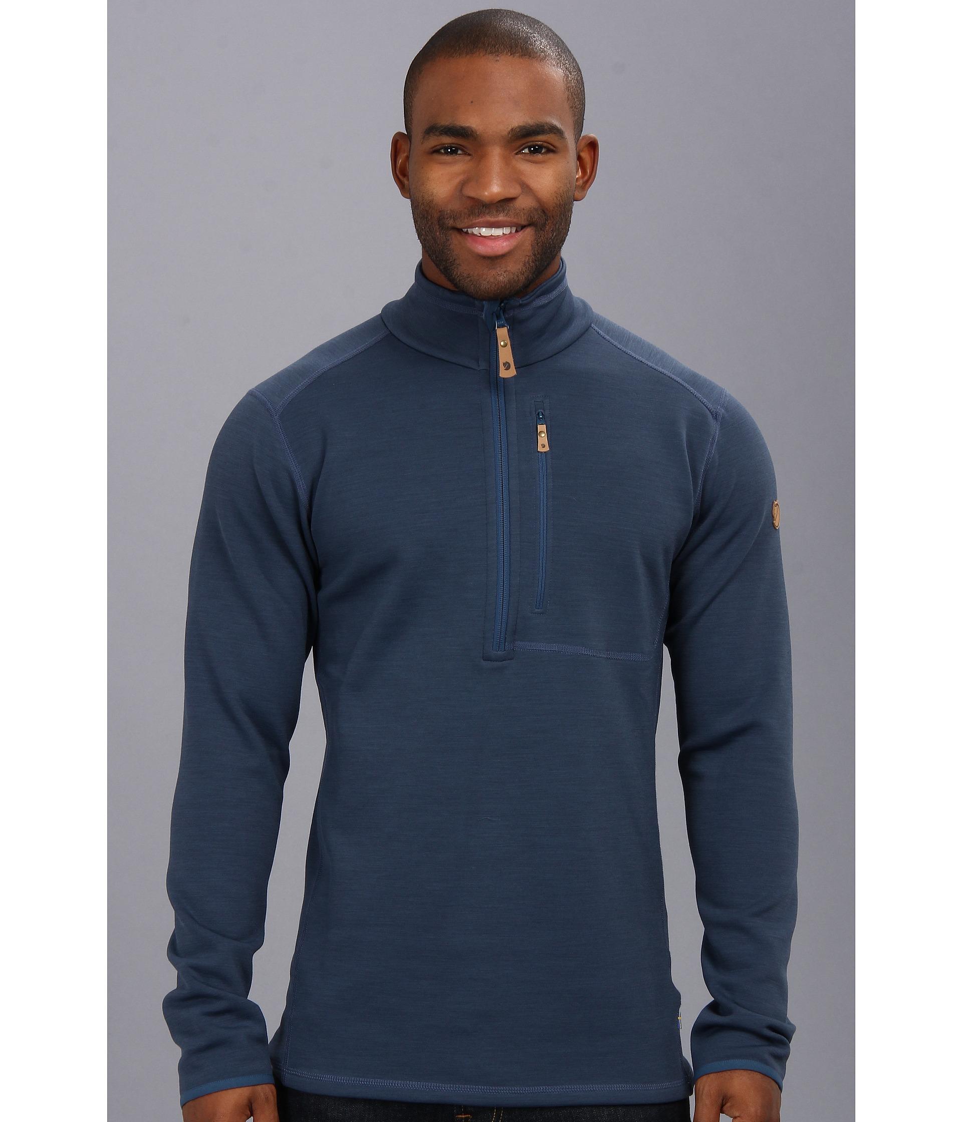 Fjallraven Keb Fleece Half Zip in Blue for Men | Lyst