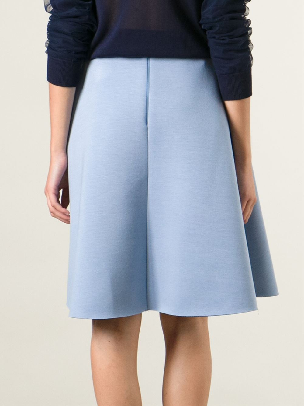 pinko midi skirt in blue lyst