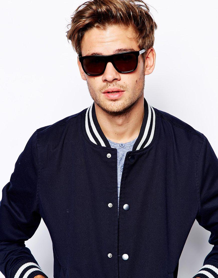 18ba9748863 Lyst - Calvin Klein Ck Wayfarer Sunglasses in Black for Men
