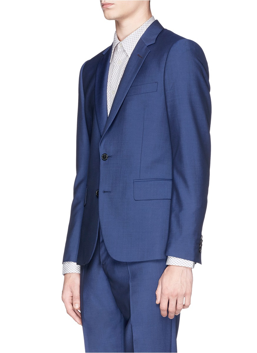 Lyst Paul Smith Soho Wool Mohair Travel Suit In Blue