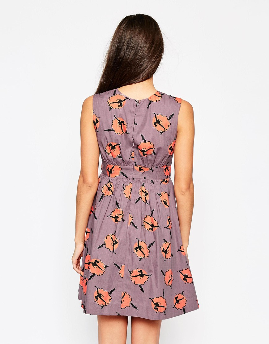emily and fin emily u0026 fin lucy dress in ballerina print lyst