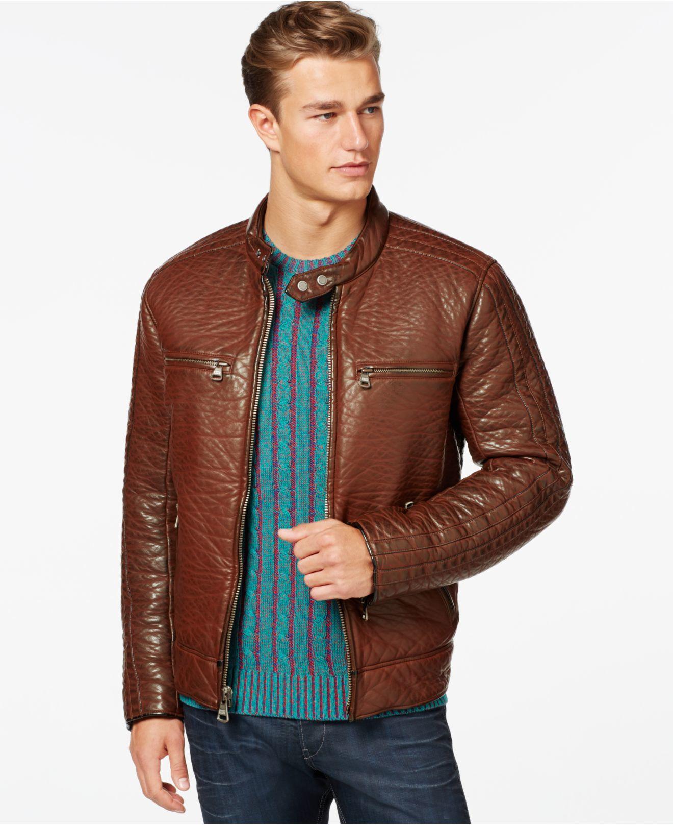 Brown Moto Jacket YqpNBF