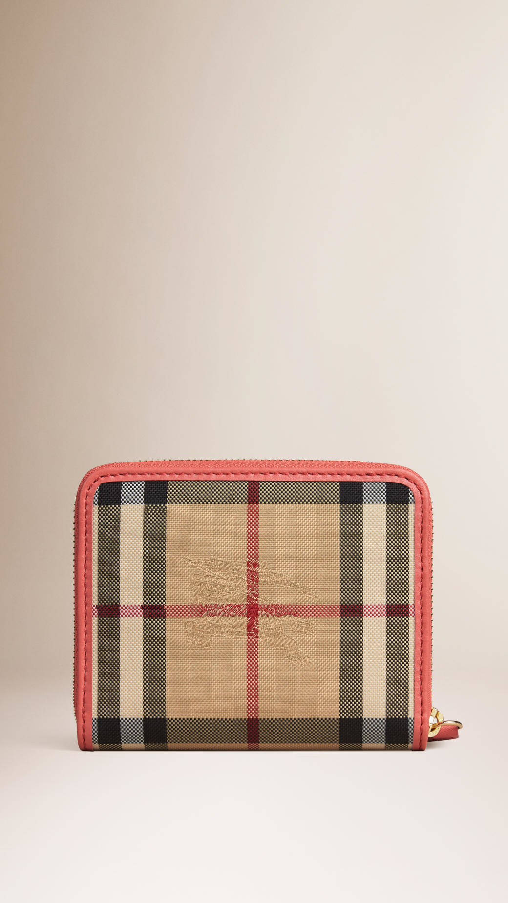 Lyst Burberry Horseferry Check And Leather Small
