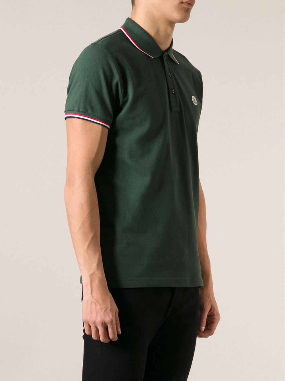 moncler dark green polo