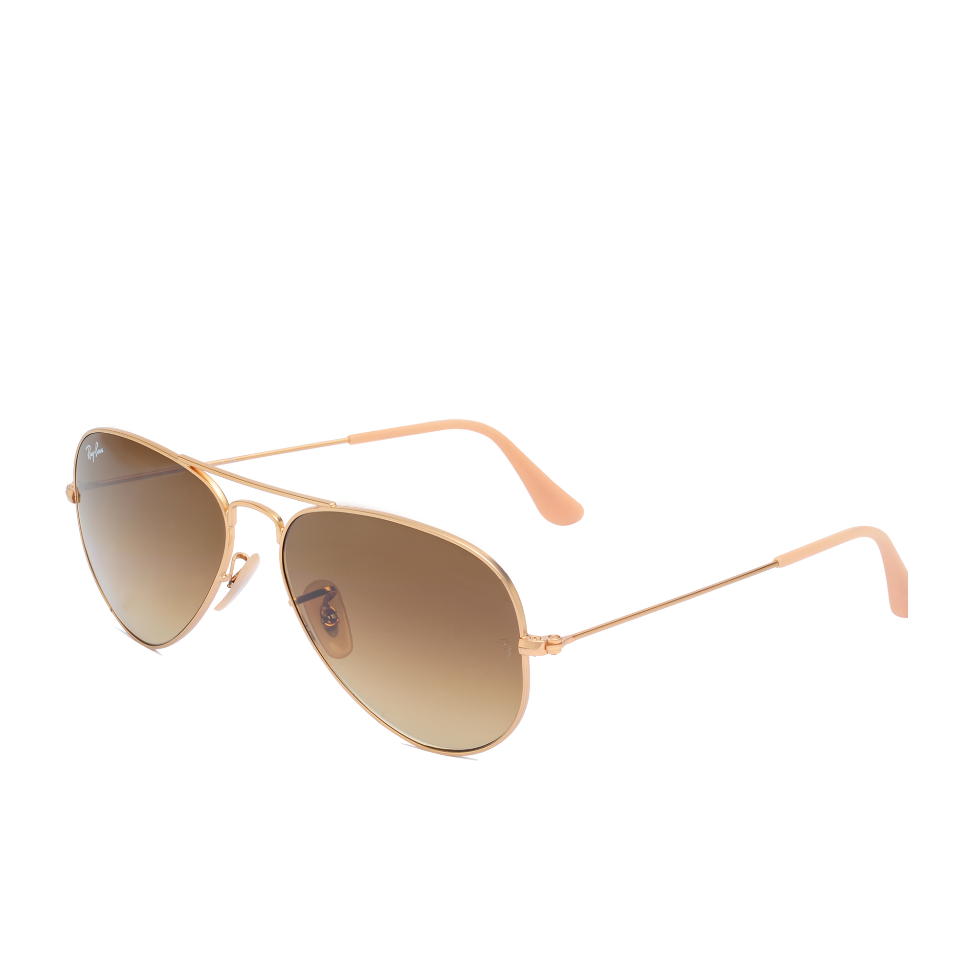 Ray ban ray ban aviator 3025 sunglasses in gold lyst for Ray ban aviator verre miroir