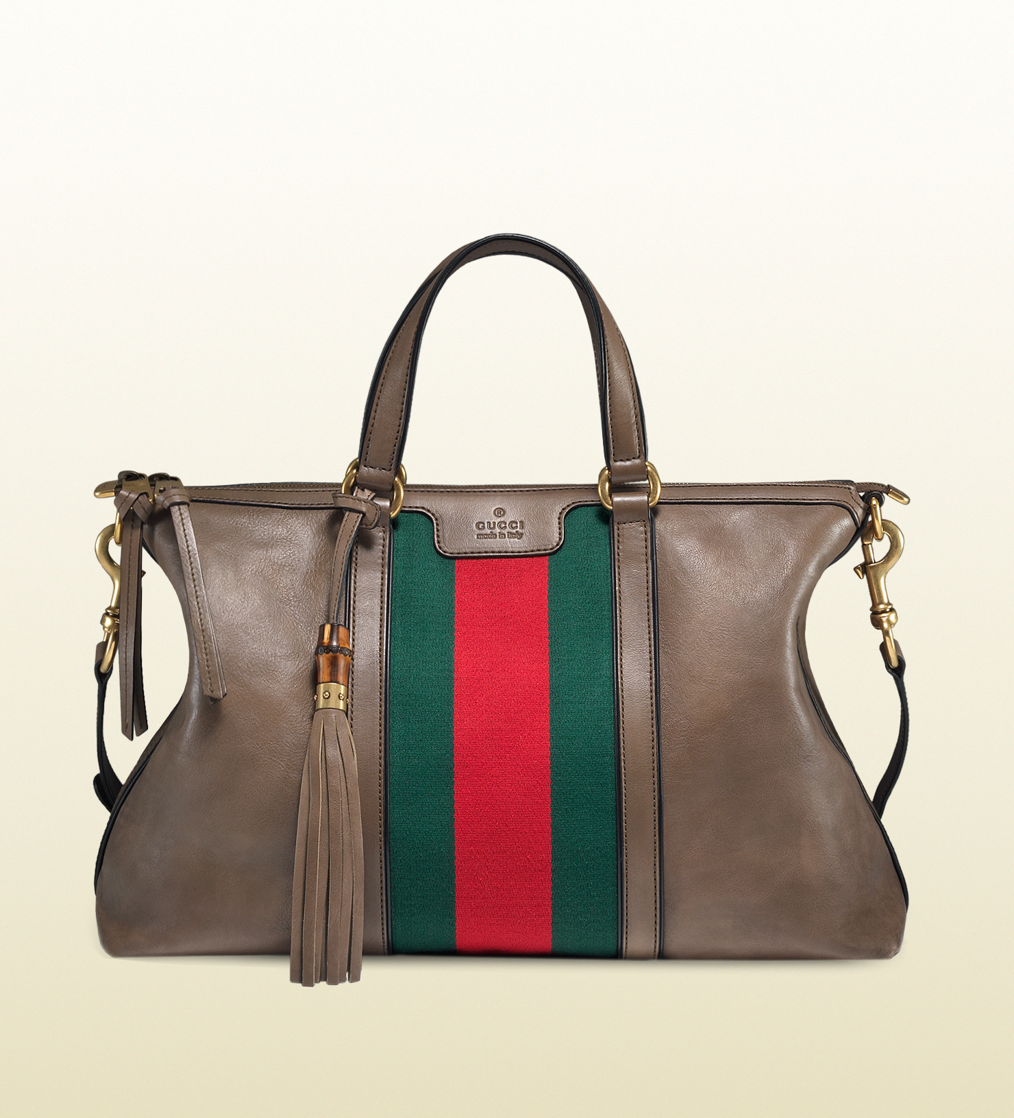 d78c22ba058983 Gucci Rania Leather Top Handle Bag in Brown - Lyst