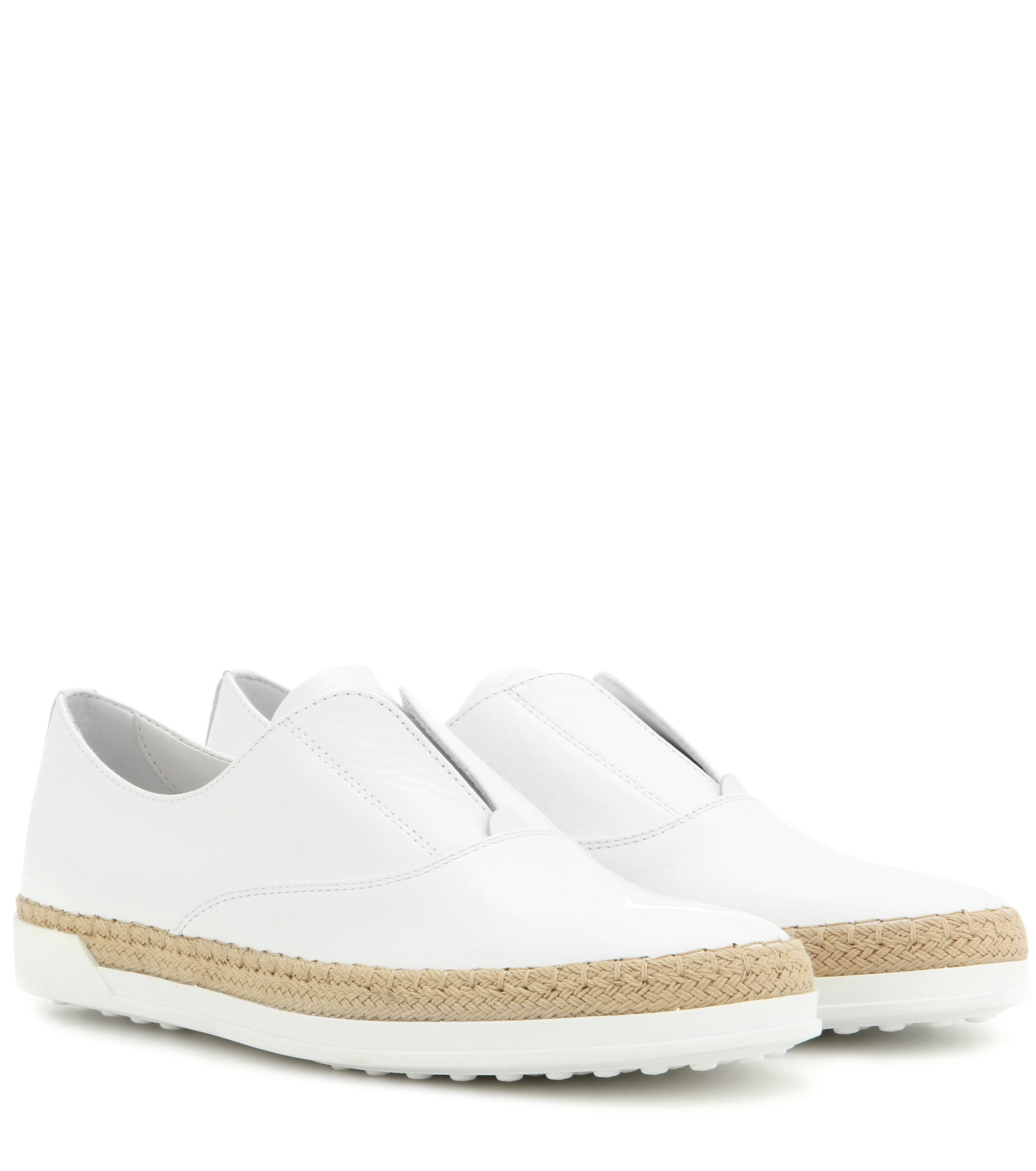 Sneaker bast calfskin smooth leather white Tod's FGJd6M