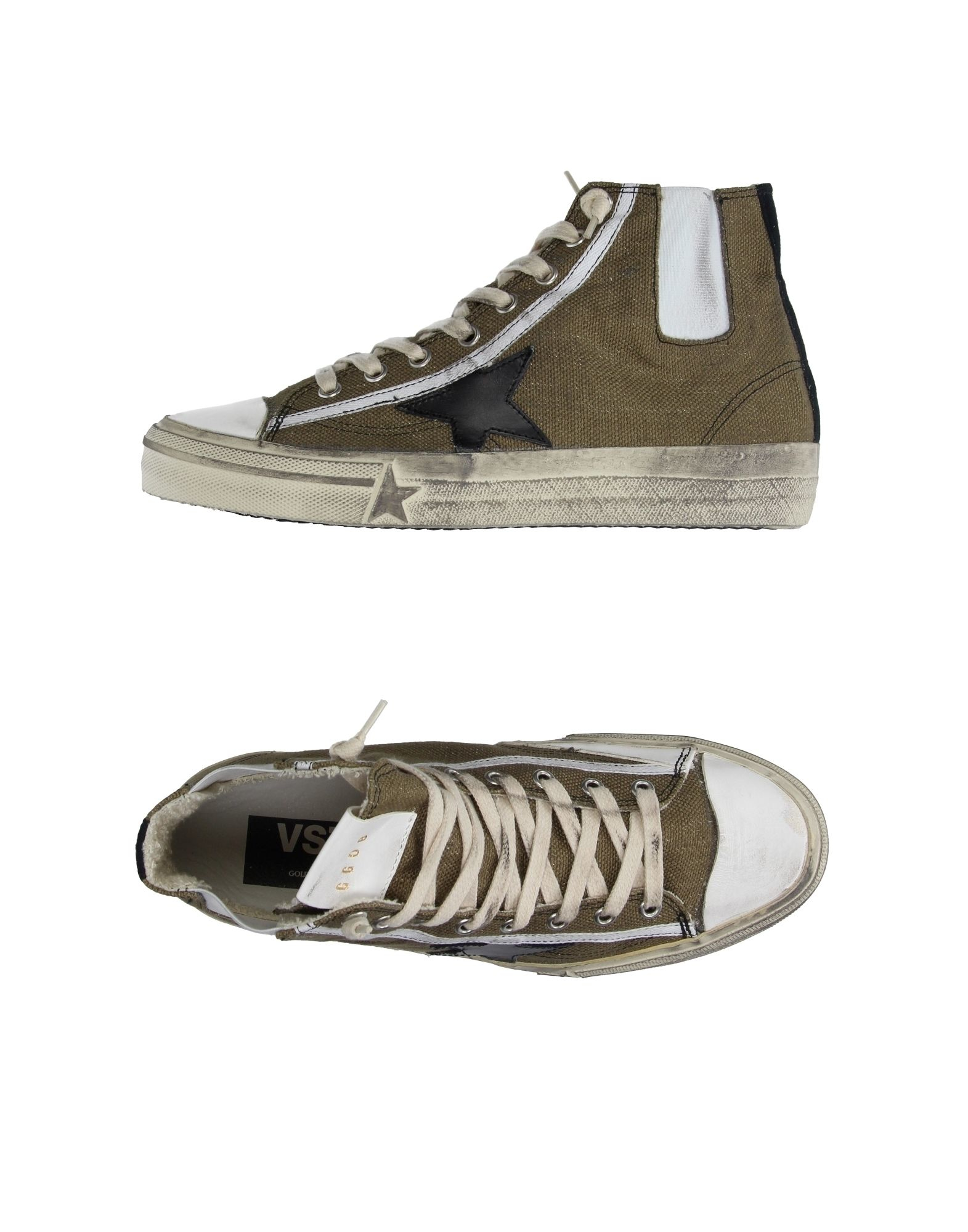 golden goose deluxe brand high tops trainers in green lyst. Black Bedroom Furniture Sets. Home Design Ideas